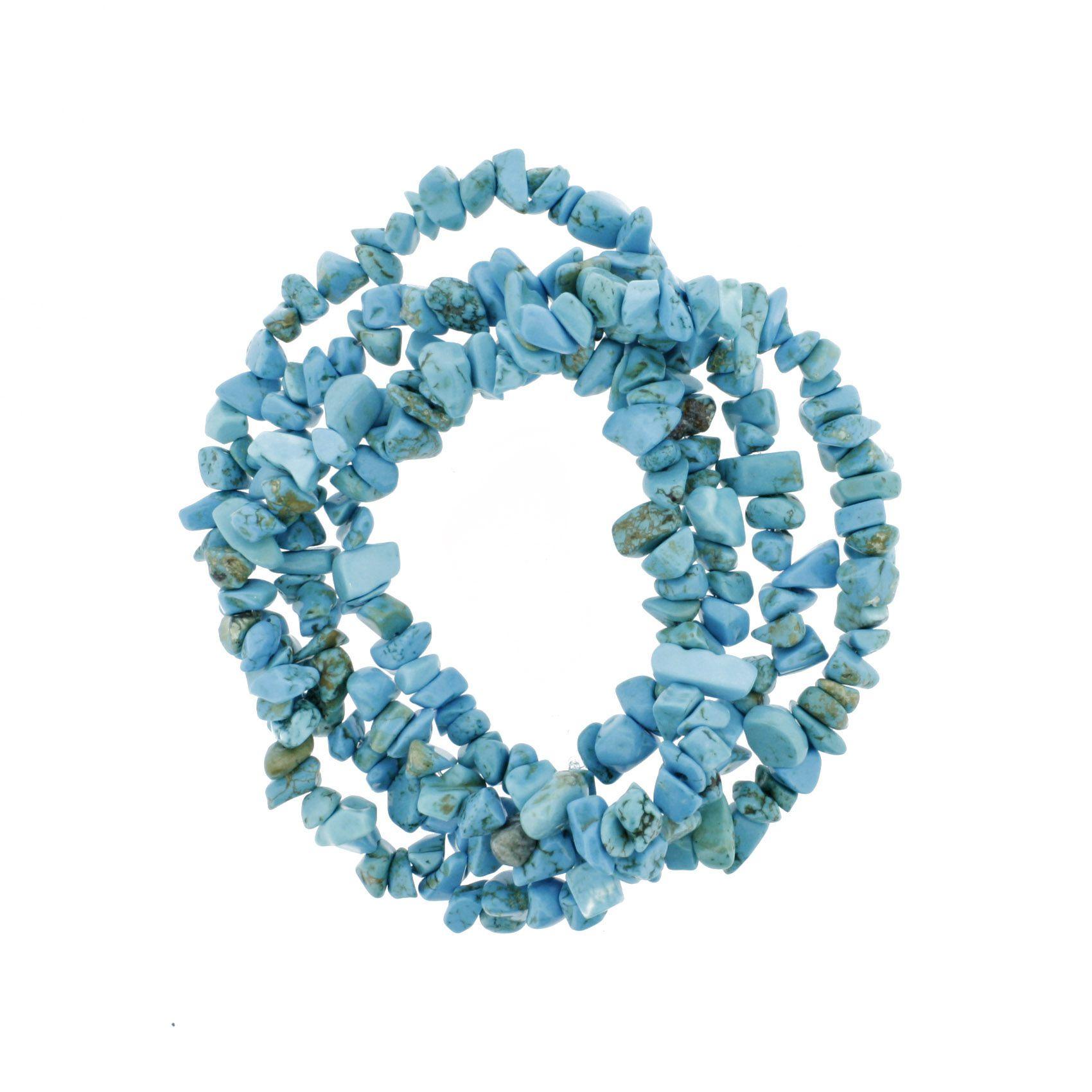 Fio de Cascalho - Stone® - Howlita Turquesa  - Stéphanie Bijoux® - Peças para Bijuterias e Artesanato