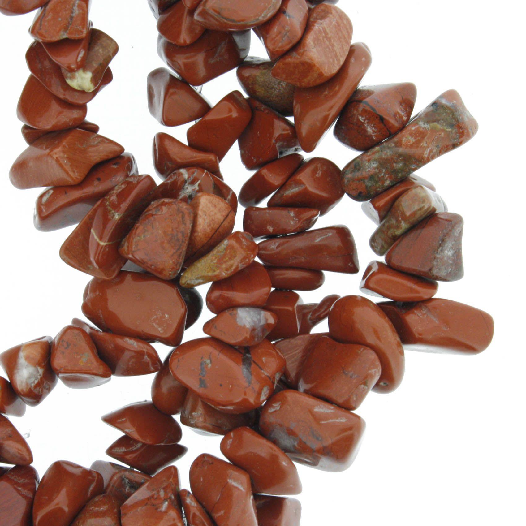 Fio de Cascalho - Stone® - Jaspe Terracota  - Stéphanie Bijoux® - Peças para Bijuterias e Artesanato