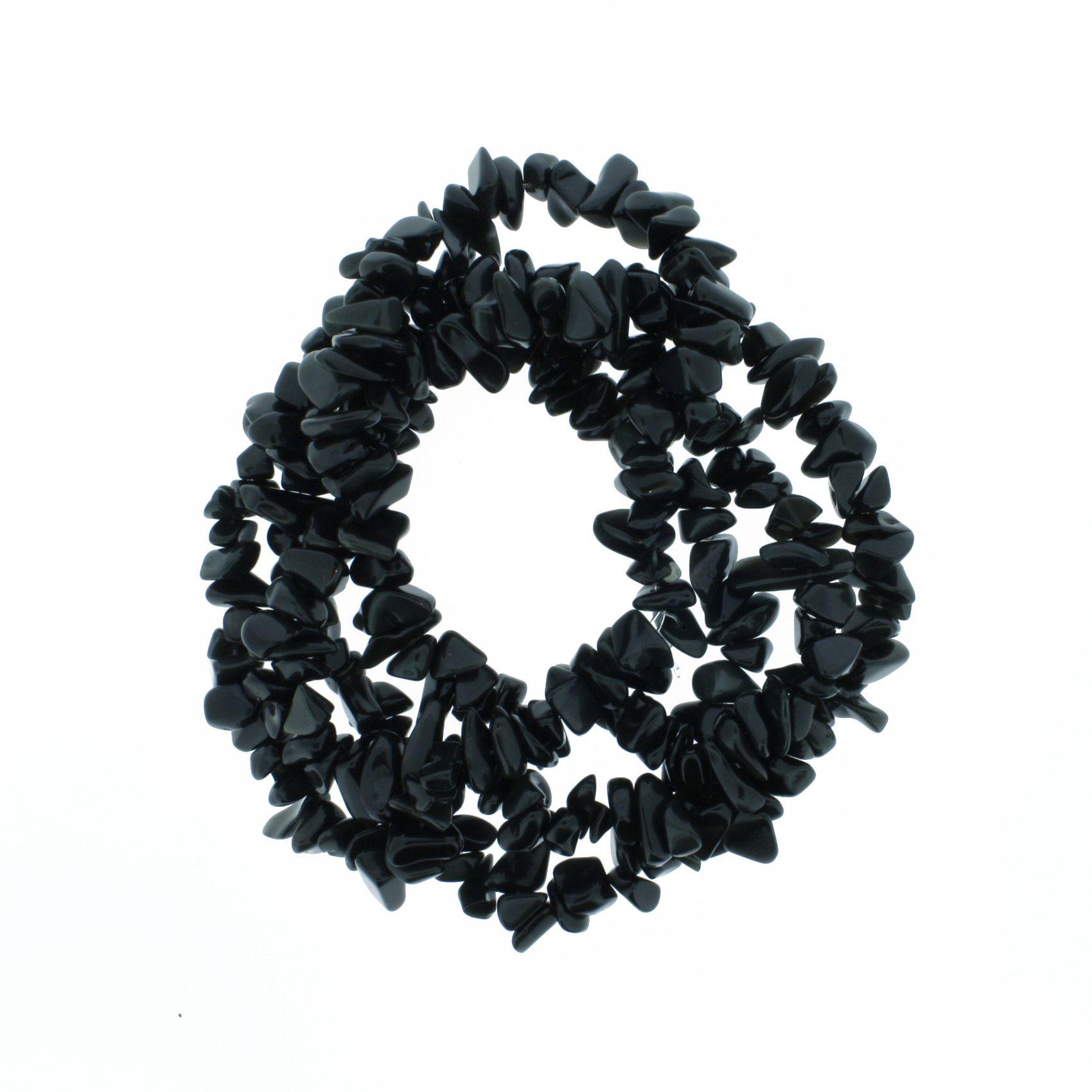 Fio de Cascalho - Stone® - Ônix  - Stéphanie Bijoux® - Peças para Bijuterias e Artesanato