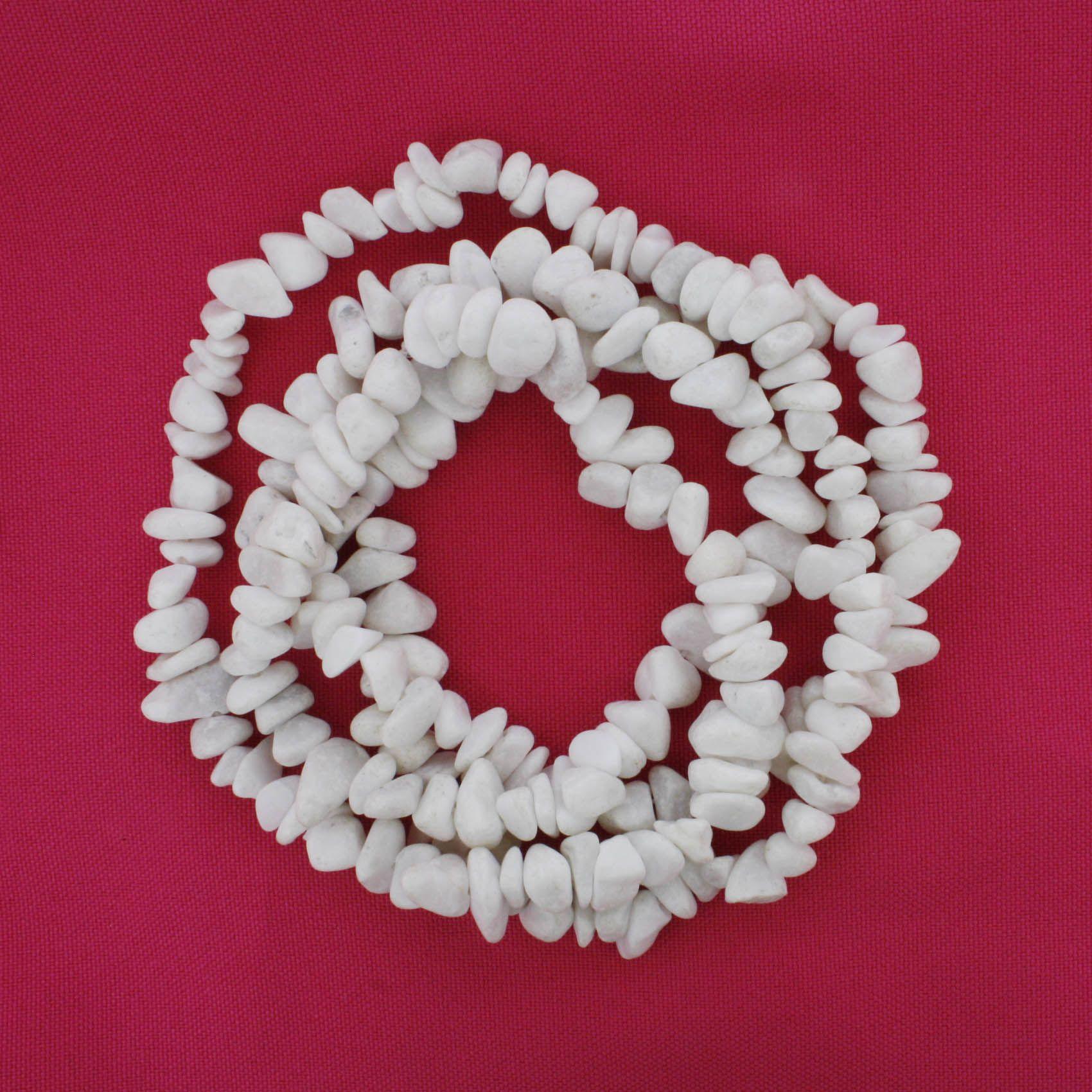 Fio de Cascalho - Stone® - Quartzo Branco  - Stéphanie Bijoux® - Peças para Bijuterias e Artesanato