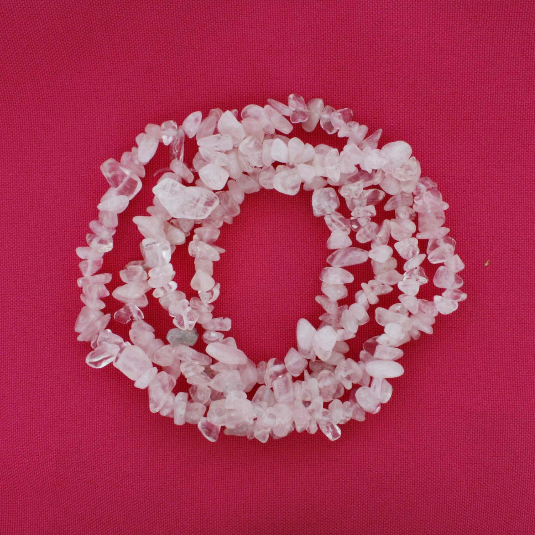 Fio de Cascalho - Stone® - Quartzo Rosa  - Stéphanie Bijoux® - Peças para Bijuterias e Artesanato
