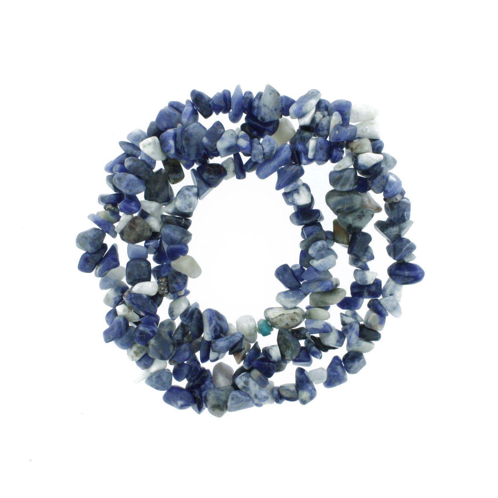 Fio de Cascalho - Stone® - Sodalita  - Stéphanie Bijoux® - Peças para Bijuterias e Artesanato
