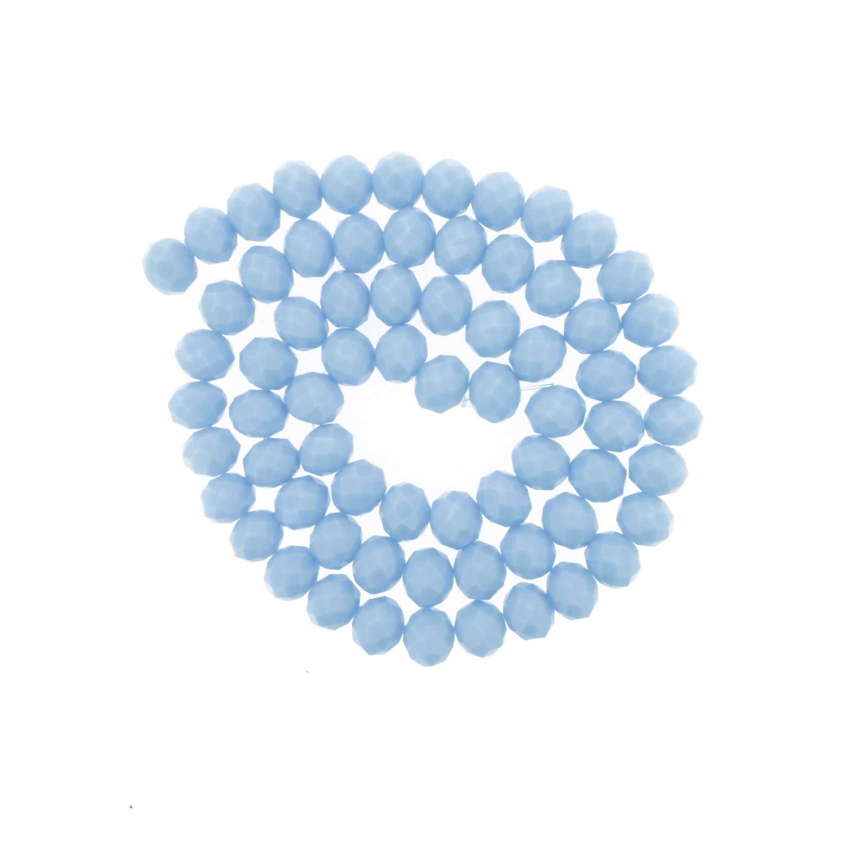 Fio de Cristal - Flat® - Azul Claro - 10mm  - Stéphanie Bijoux® - Peças para Bijuterias e Artesanato