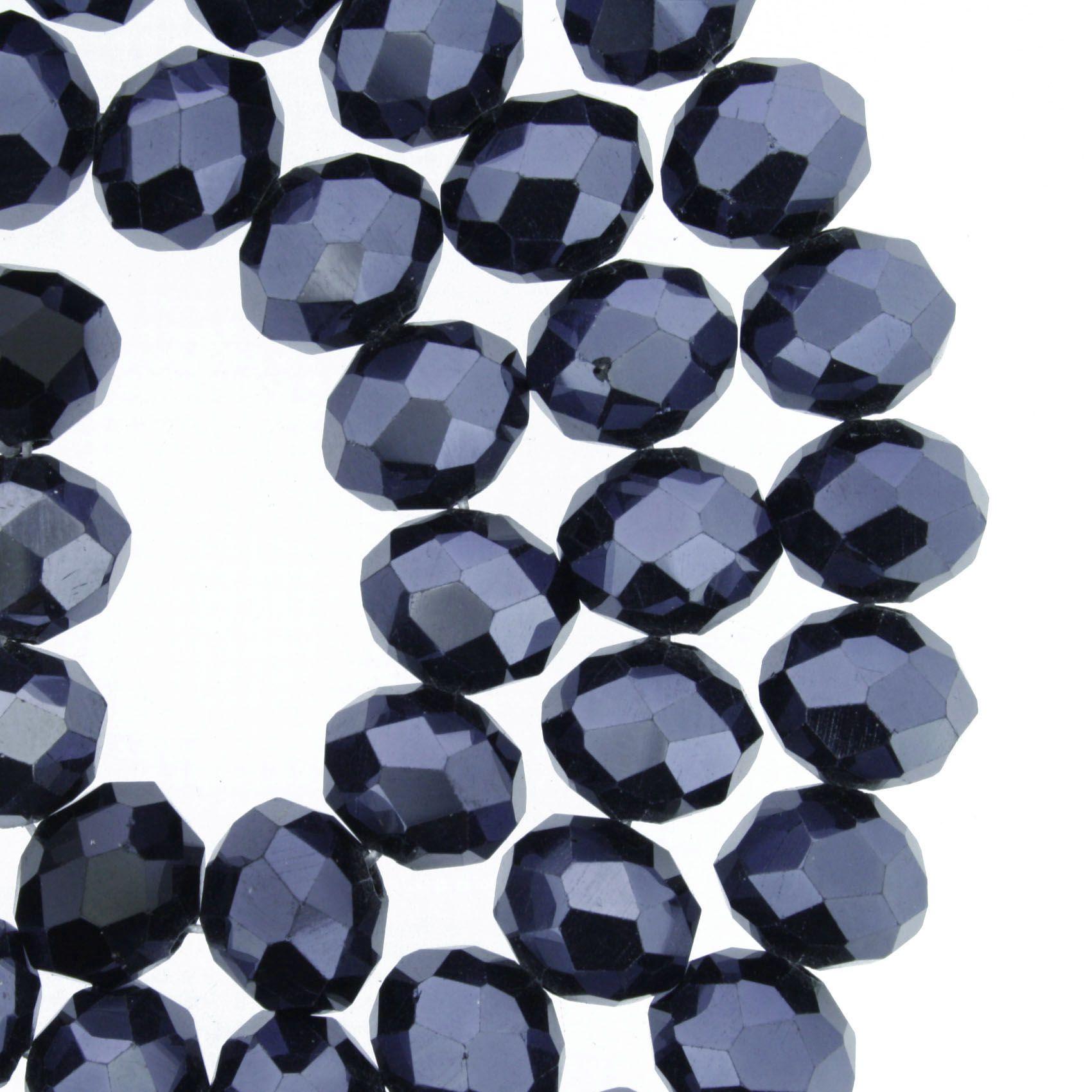 Fio de Cristal - Flat® - Grafite - 10mm  - Stéphanie Bijoux® - Peças para Bijuterias e Artesanato