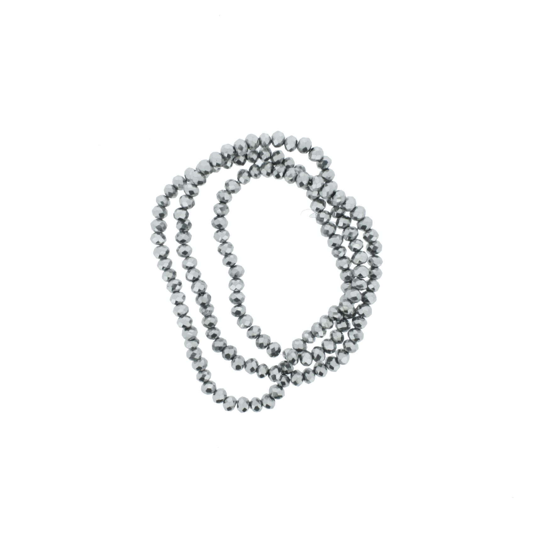 Fio de Cristal - Flat® - Grafite - 4mm  - Stéphanie Bijoux® - Peças para Bijuterias e Artesanato