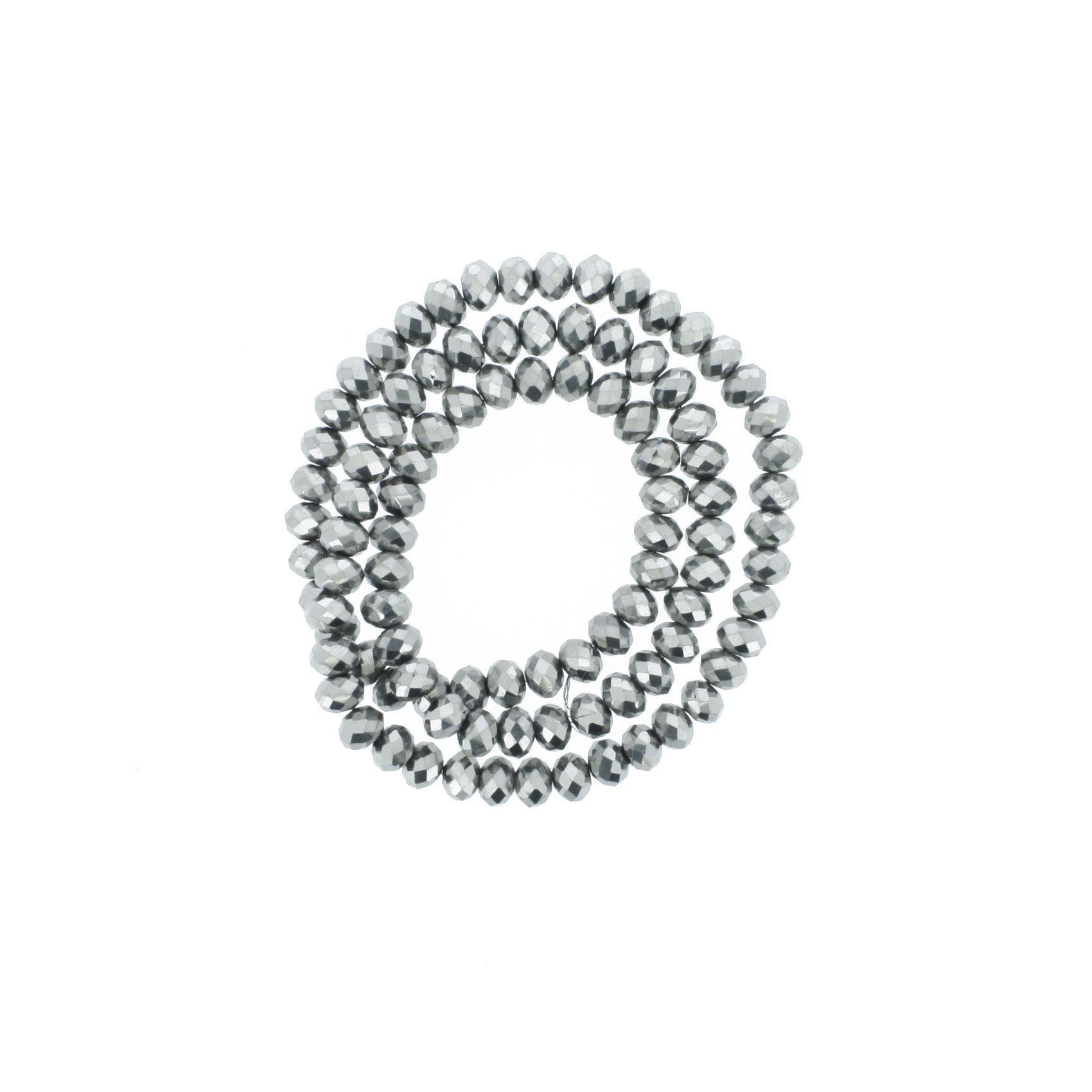 Fio de Cristal - Flat® - Grafite - 6mm  - Stéphanie Bijoux® - Peças para Bijuterias e Artesanato