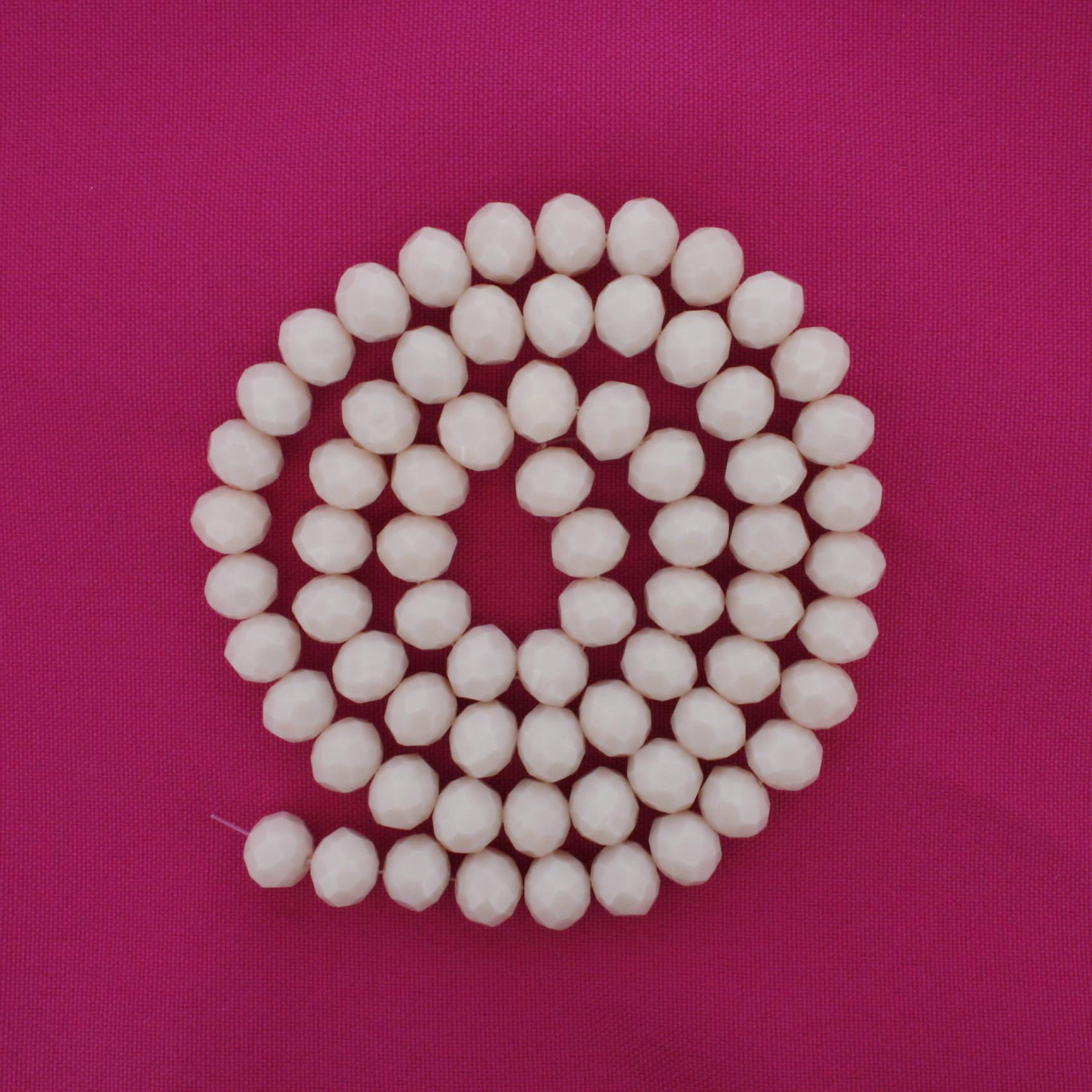 Fio de Cristal - Flat® - Rosa Papel - 10mm  - Stéphanie Bijoux® - Peças para Bijuterias e Artesanato