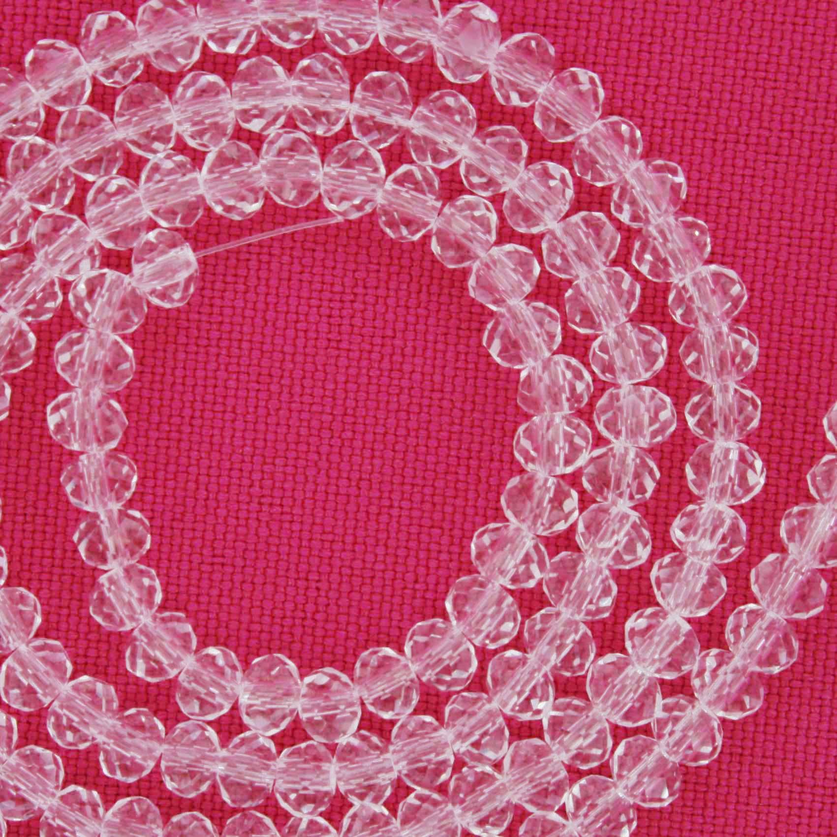 Fio de Cristal - Flat® - Transparente - 4mm  - Stéphanie Bijoux® - Peças para Bijuterias e Artesanato