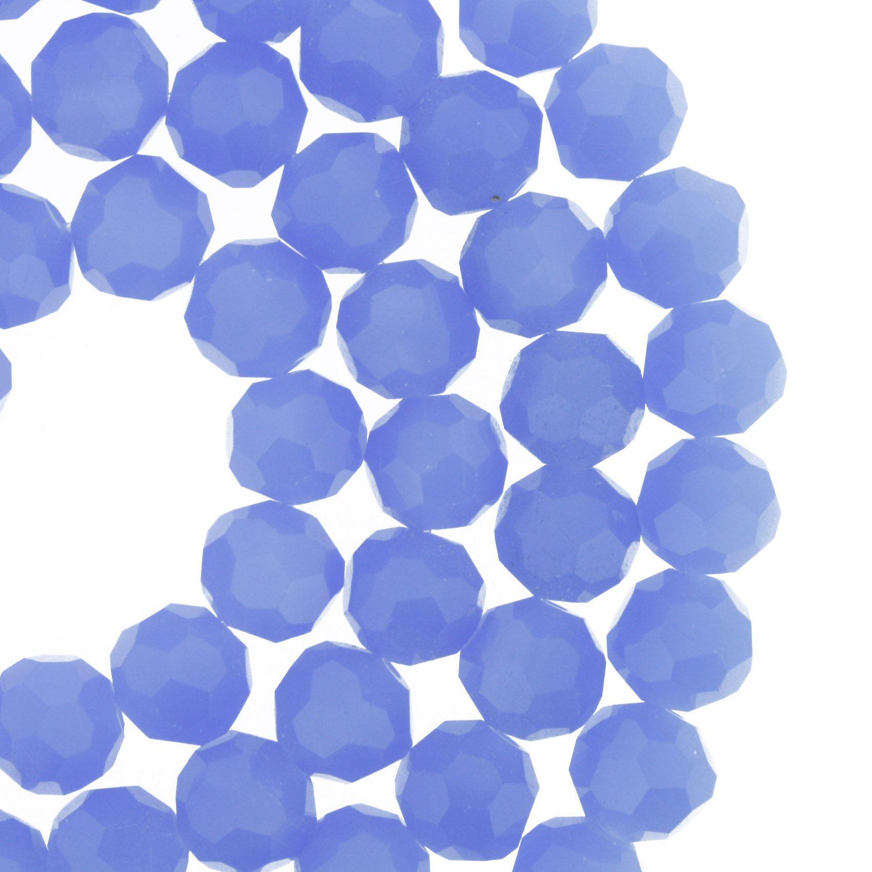 Fio de Cristal - Premium® - Lavanda - 8mm  - Stéphanie Bijoux® - Peças para Bijuterias e Artesanato