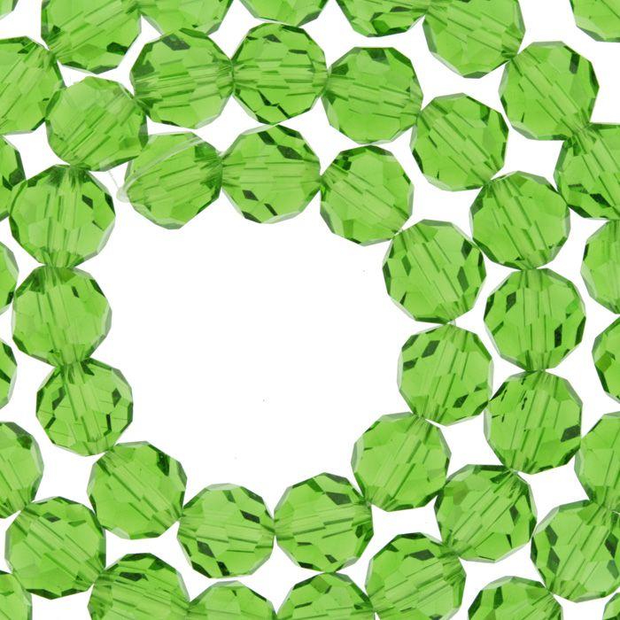 Fio de Cristal - Premium® - Verde Claro Transparente - 8mm  - Stéphanie Bijoux® - Peças para Bijuterias e Artesanato
