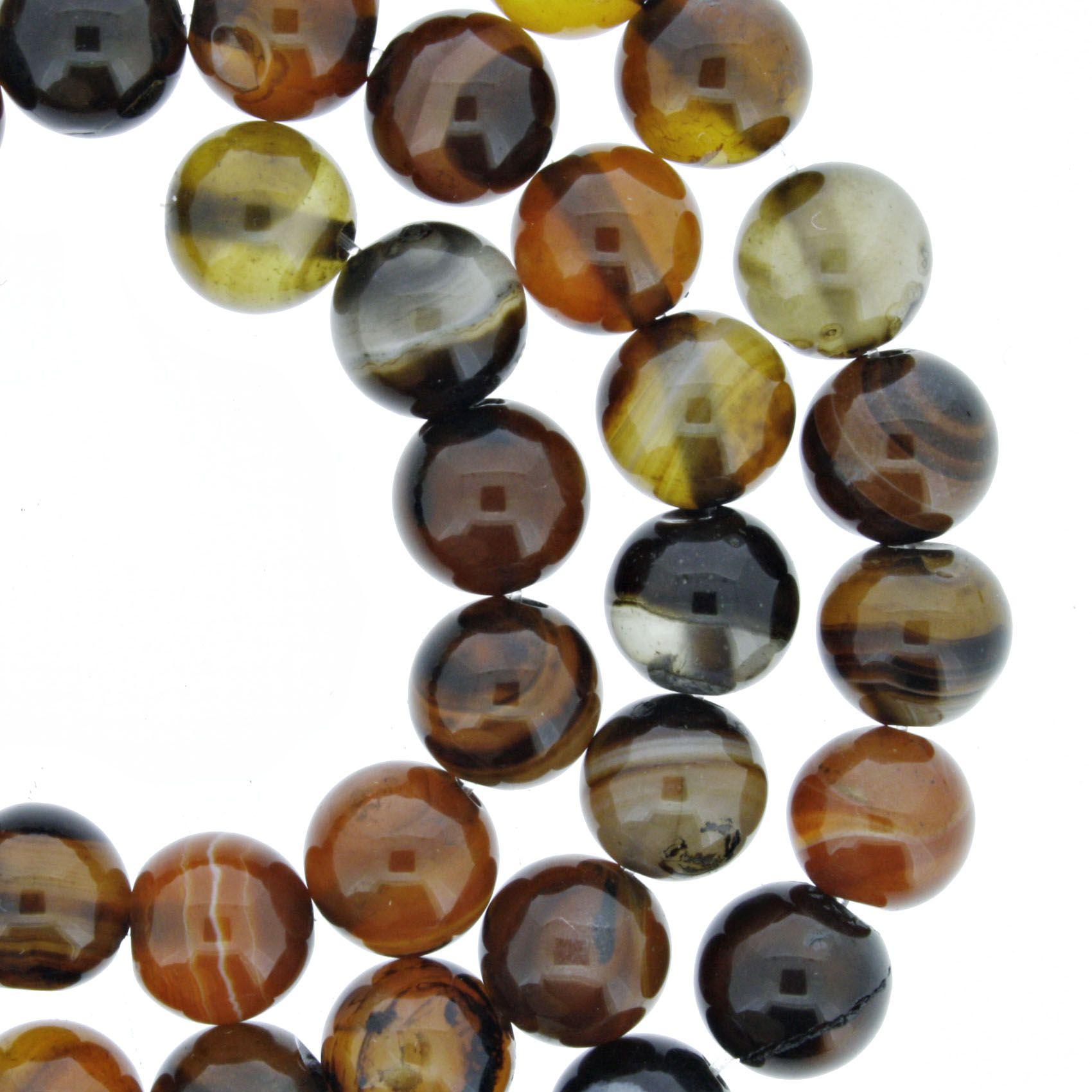 Fio de Pedra - Ágata - 8mm  - Stéphanie Bijoux® - Peças para Bijuterias e Artesanato