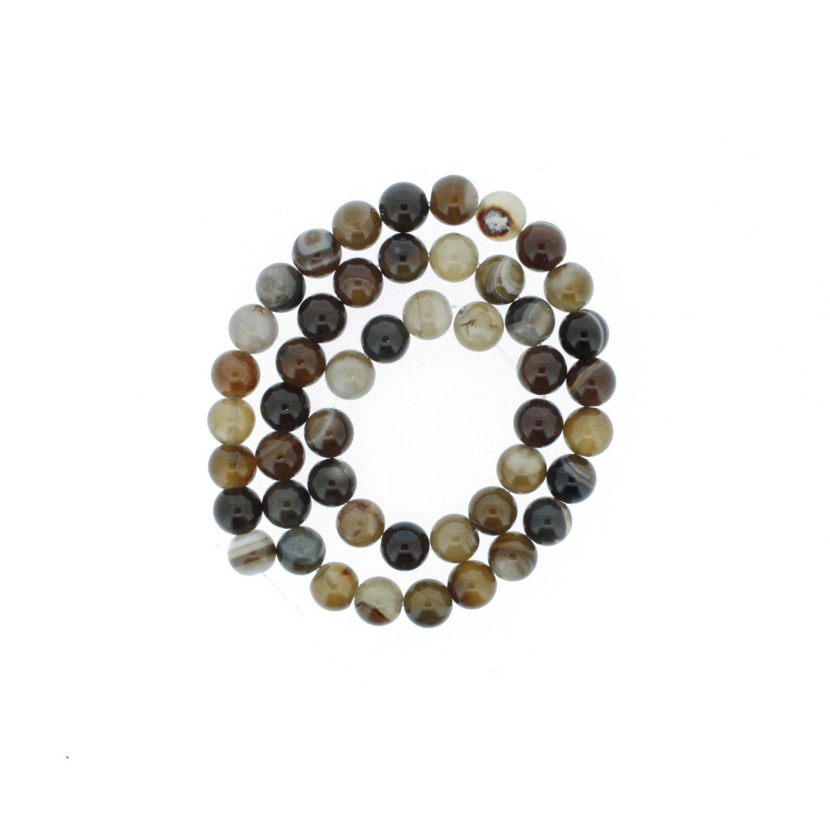 Fio de Pedra - Ágata dos Sonhos - 8mm  - Stéphanie Bijoux® - Peças para Bijuterias e Artesanato