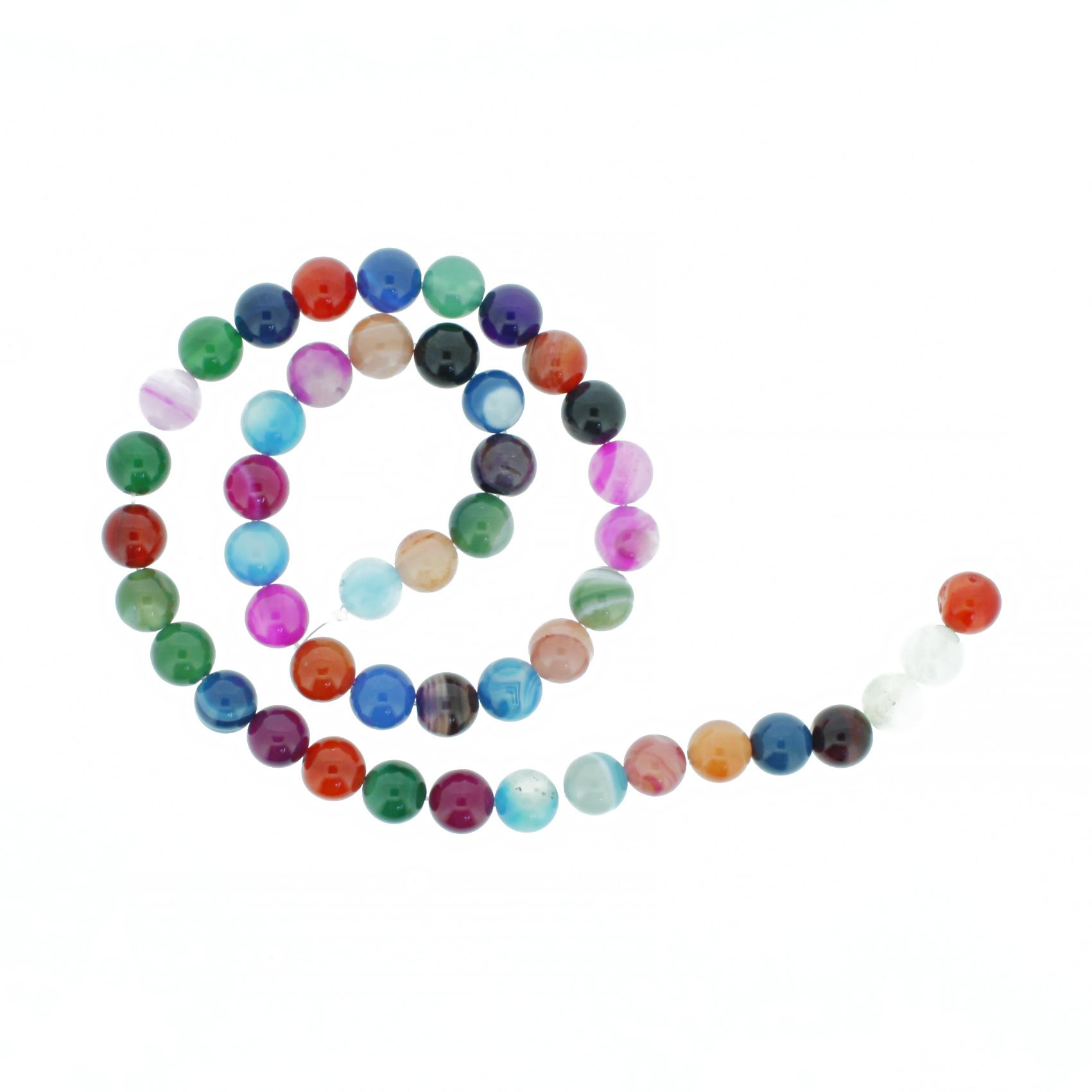 Fio de Pedra - Ágata Mix - 8mm  - Stéphanie Bijoux® - Peças para Bijuterias e Artesanato