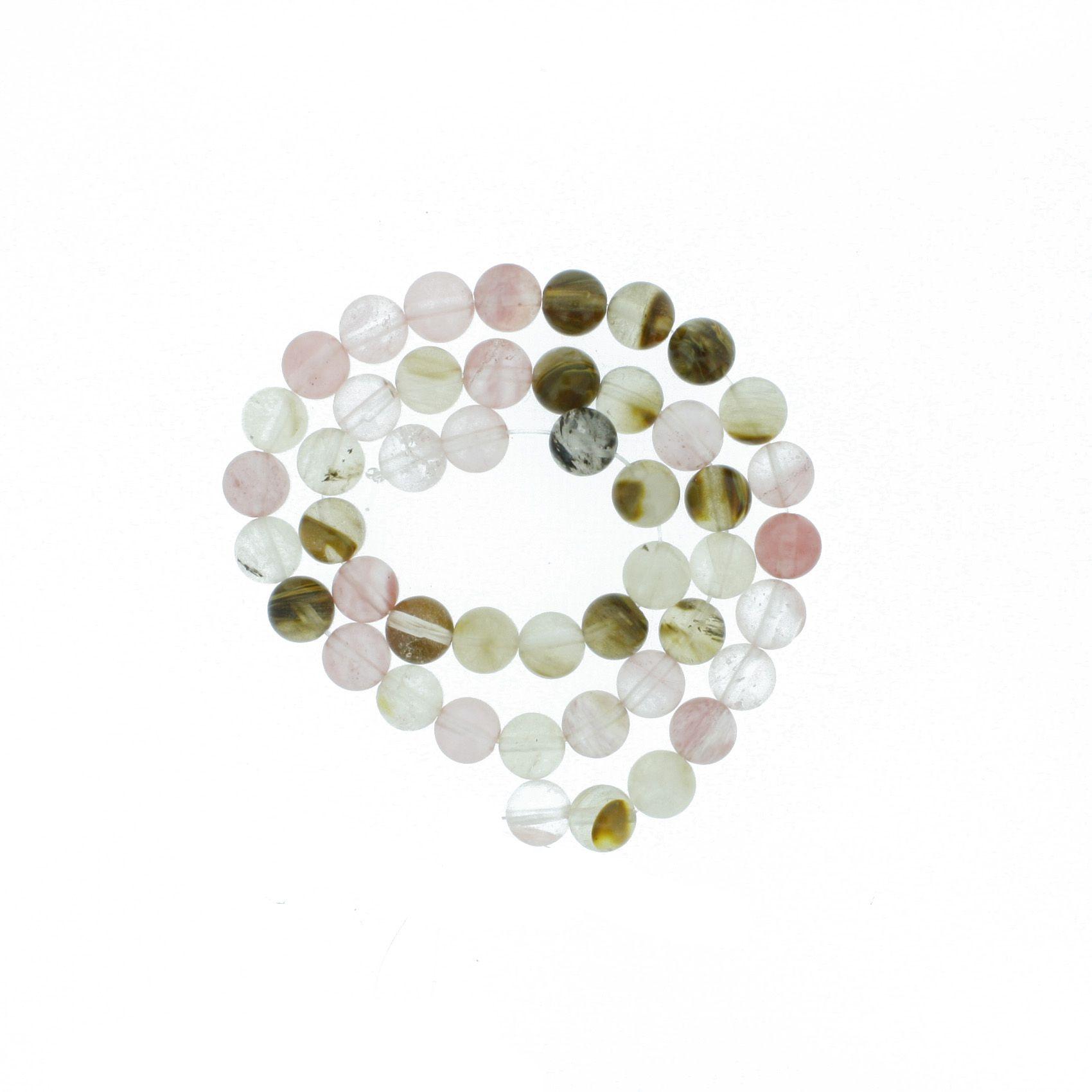 Fio de Pedra - Ágata Mix Rosa - 8mm  - Stéphanie Bijoux® - Peças para Bijuterias e Artesanato