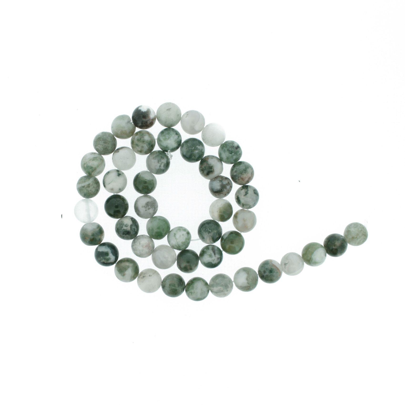 Fio de Pedra - Ágata Musgo - 8mm  - Stéphanie Bijoux® - Peças para Bijuterias e Artesanato