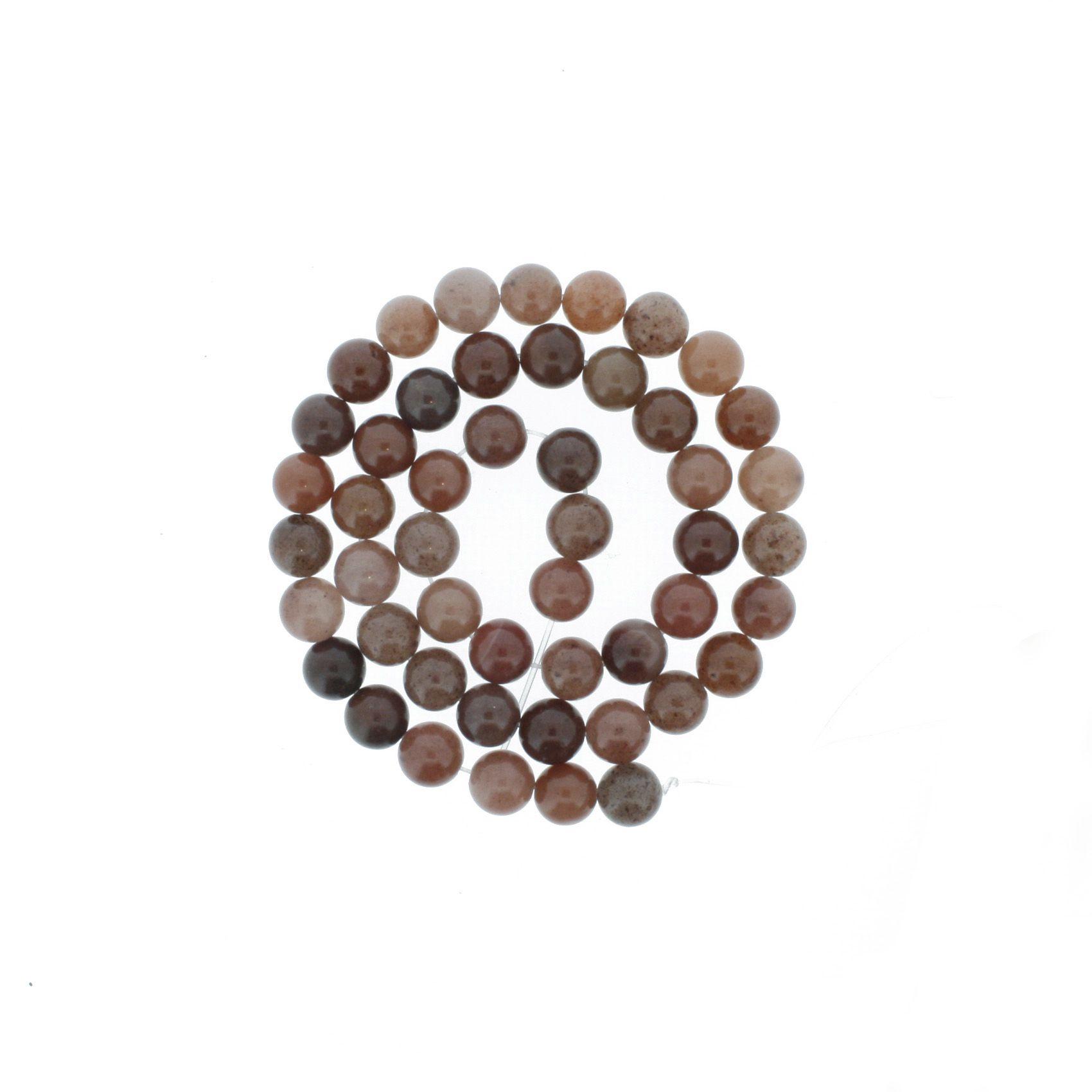 Fio de Pedra - Ágata Rosé - 8mm  - Stéphanie Bijoux® - Peças para Bijuterias e Artesanato