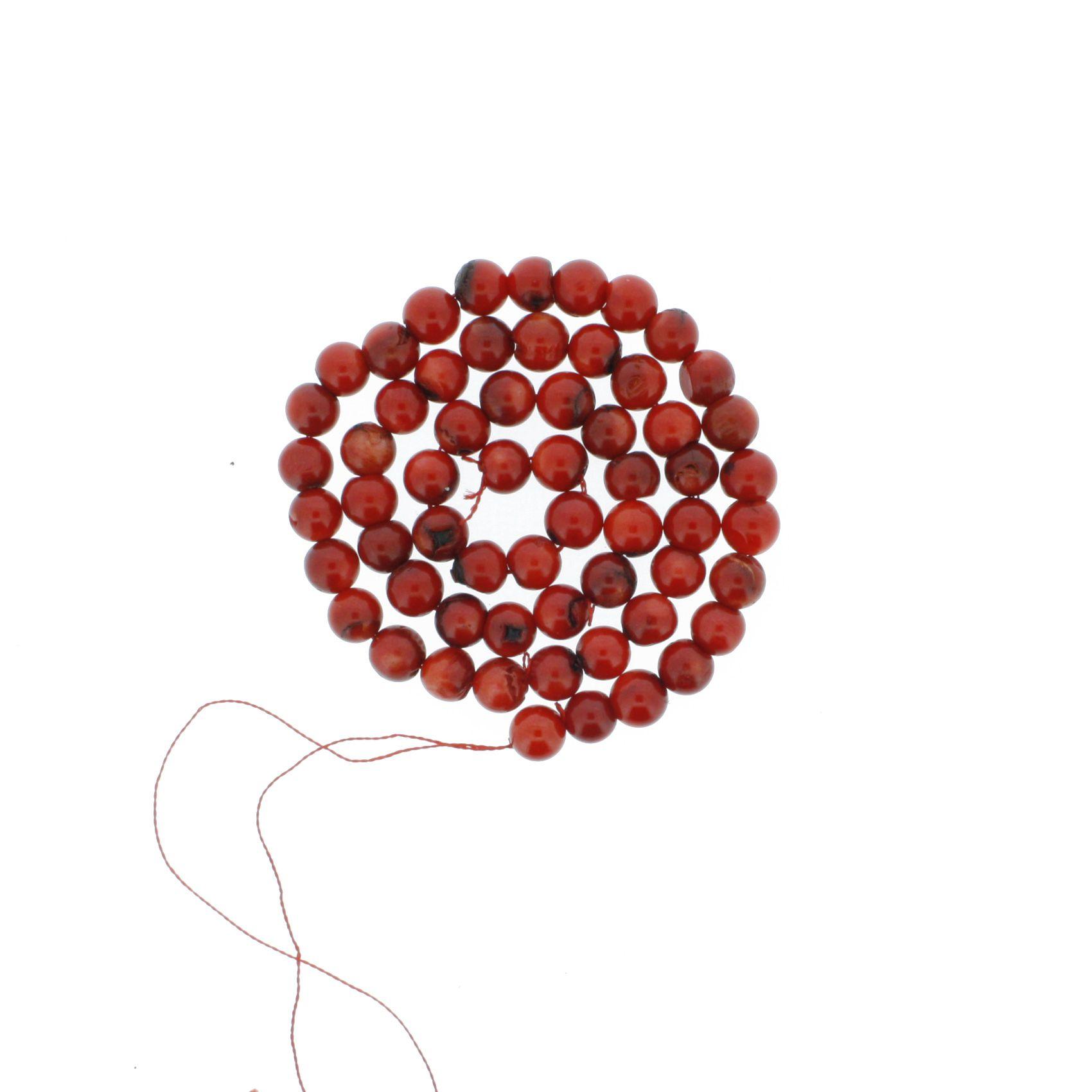 Fio de Pedra - Coral - 8mm  - Stéphanie Bijoux® - Peças para Bijuterias e Artesanato