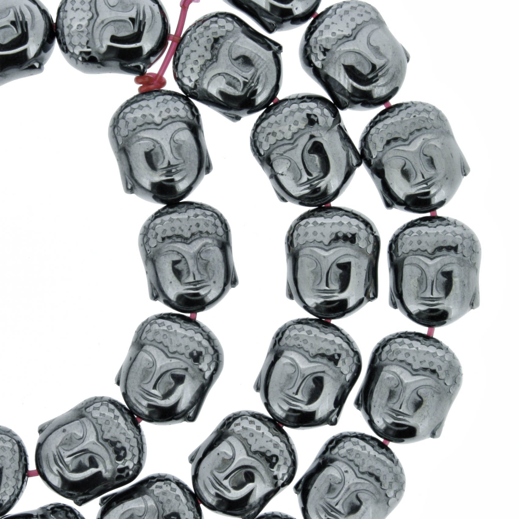 Fio de Pedra - Hematita Buda - 8mm  - Stéphanie Bijoux® - Peças para Bijuterias e Artesanato