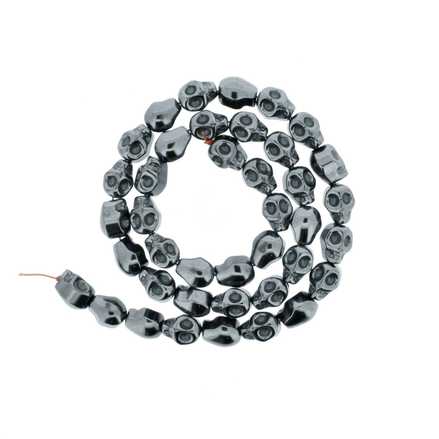 Fio de Pedra - Hematita Caveira - 10mm  - Stéphanie Bijoux® - Peças para Bijuterias e Artesanato