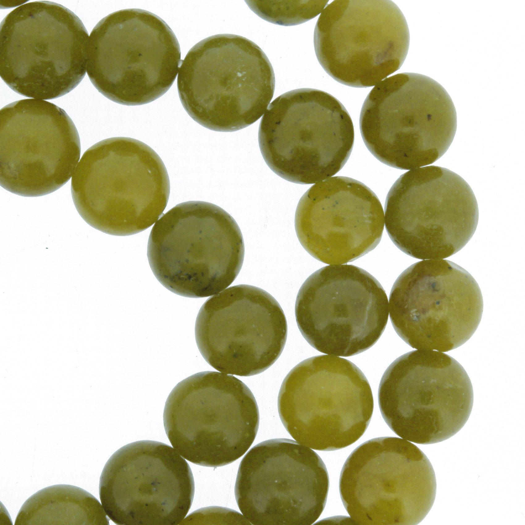 Fio de Pedra - Jade Oliva - 8mm  - Stéphanie Bijoux® - Peças para Bijuterias e Artesanato