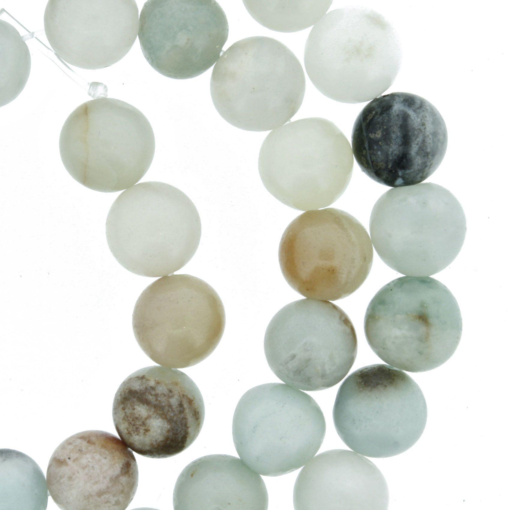 Fio de Pedra - Jaspe Aqua - 8mm  - Stéphanie Bijoux® - Peças para Bijuterias e Artesanato
