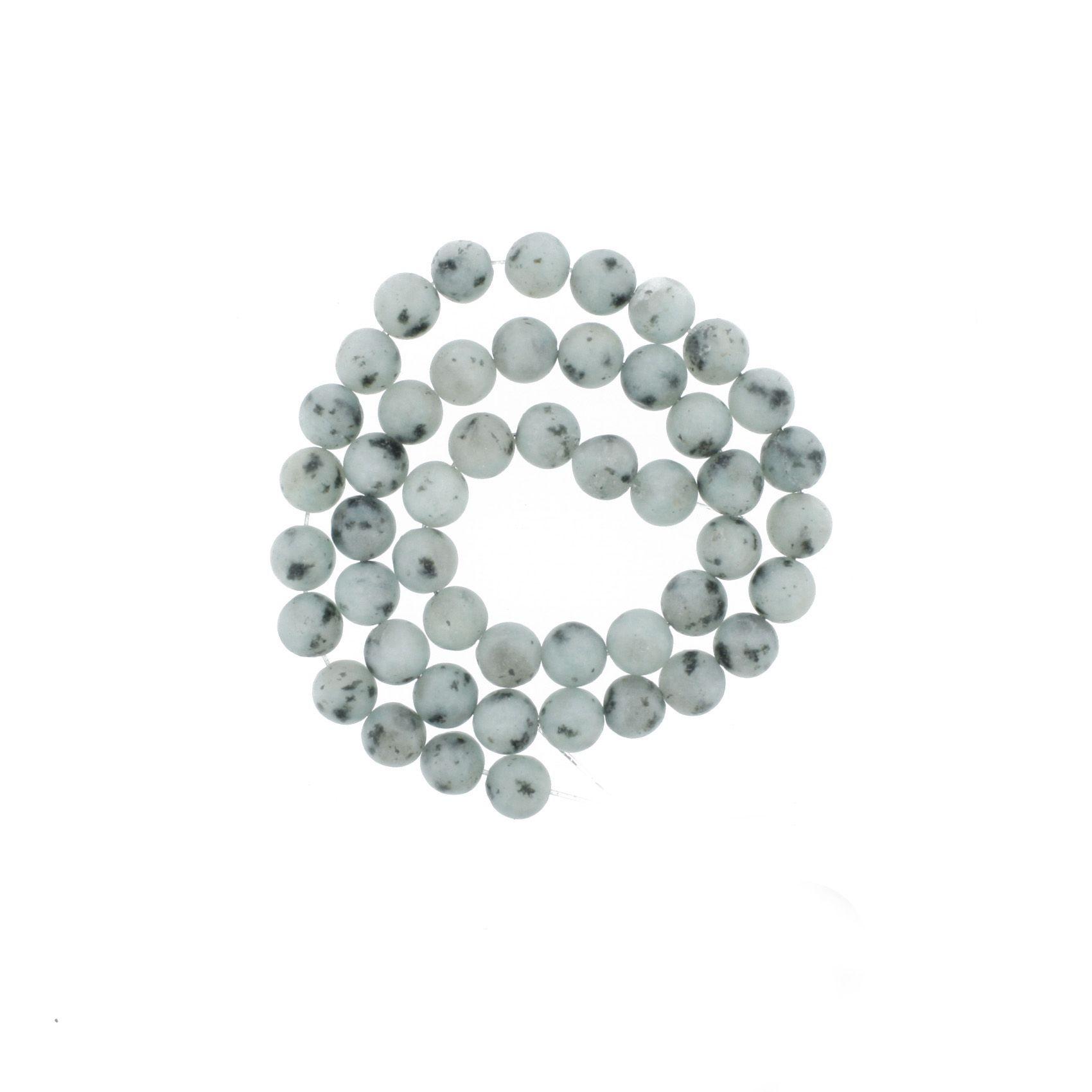 Fio de Pedra - Jaspe Kiwi Fosca - 8mm  - Stéphanie Bijoux® - Peças para Bijuterias e Artesanato