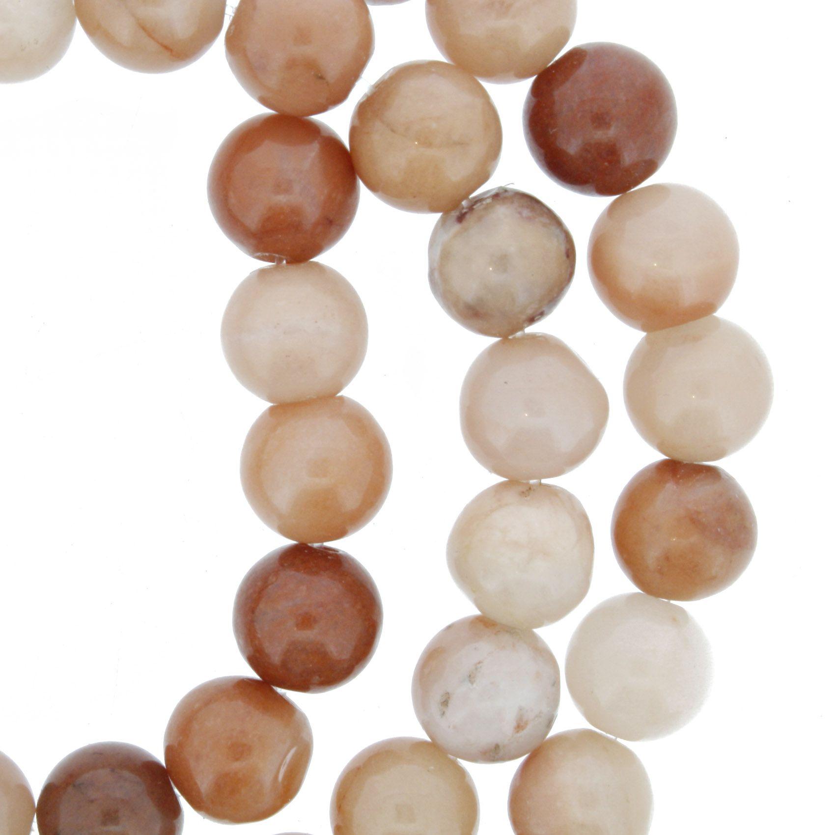 Fio de Pedra - Jaspe Pêssego - 8mm  - Stéphanie Bijoux® - Peças para Bijuterias e Artesanato