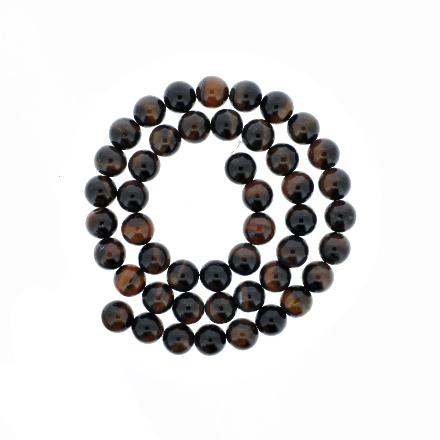 Fio de Pedra - Olho de Boi - 8mm  - Stéphanie Bijoux® - Peças para Bijuterias e Artesanato