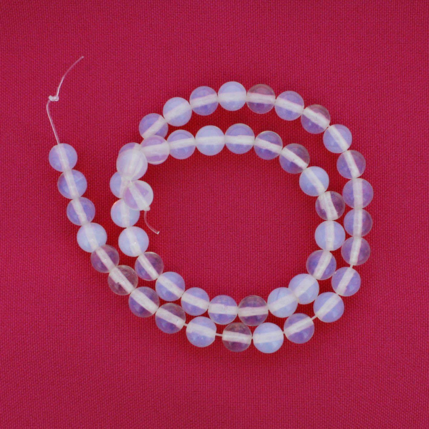 Fio de Pedra - Pedra da Lua - 8mm  - Stéphanie Bijoux® - Peças para Bijuterias e Artesanato