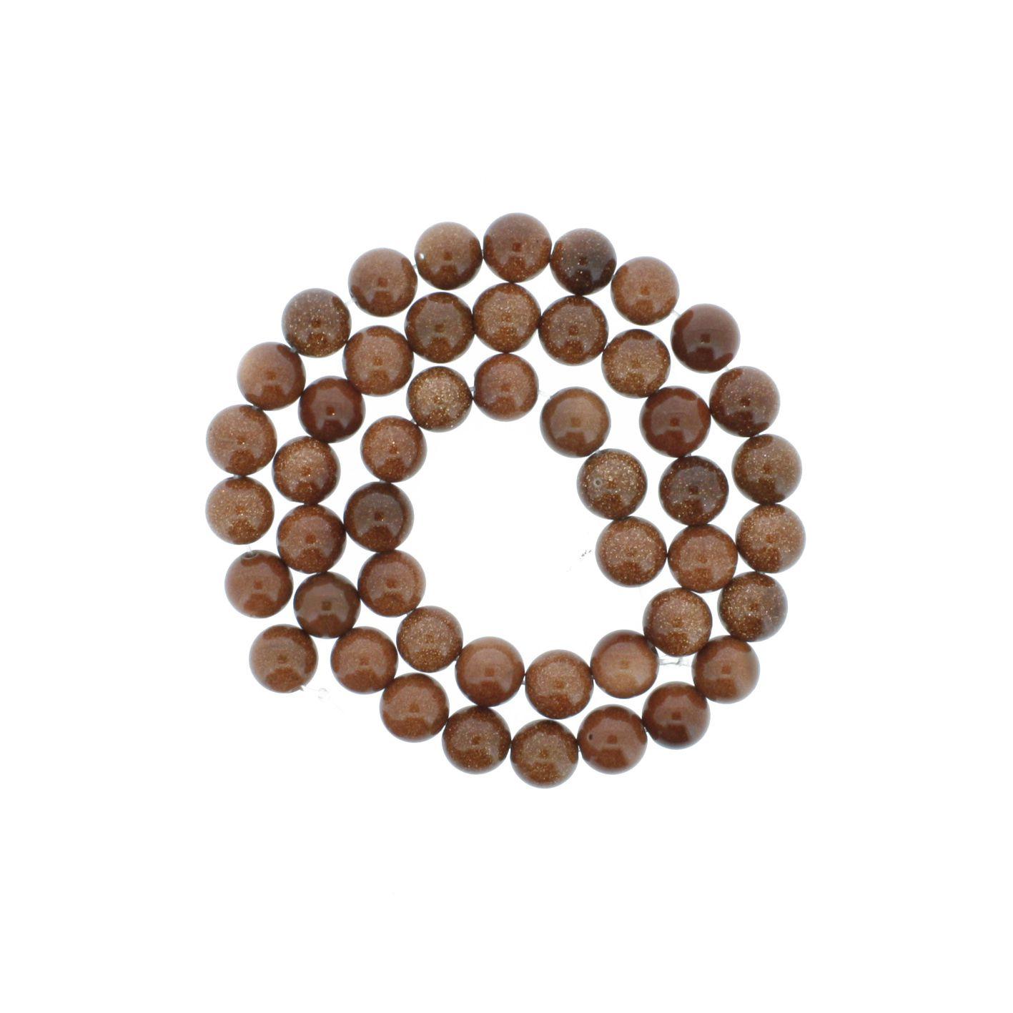 Fio de Pedra - Pedra do Sol - 8mm  - Stéphanie Bijoux® - Peças para Bijuterias e Artesanato