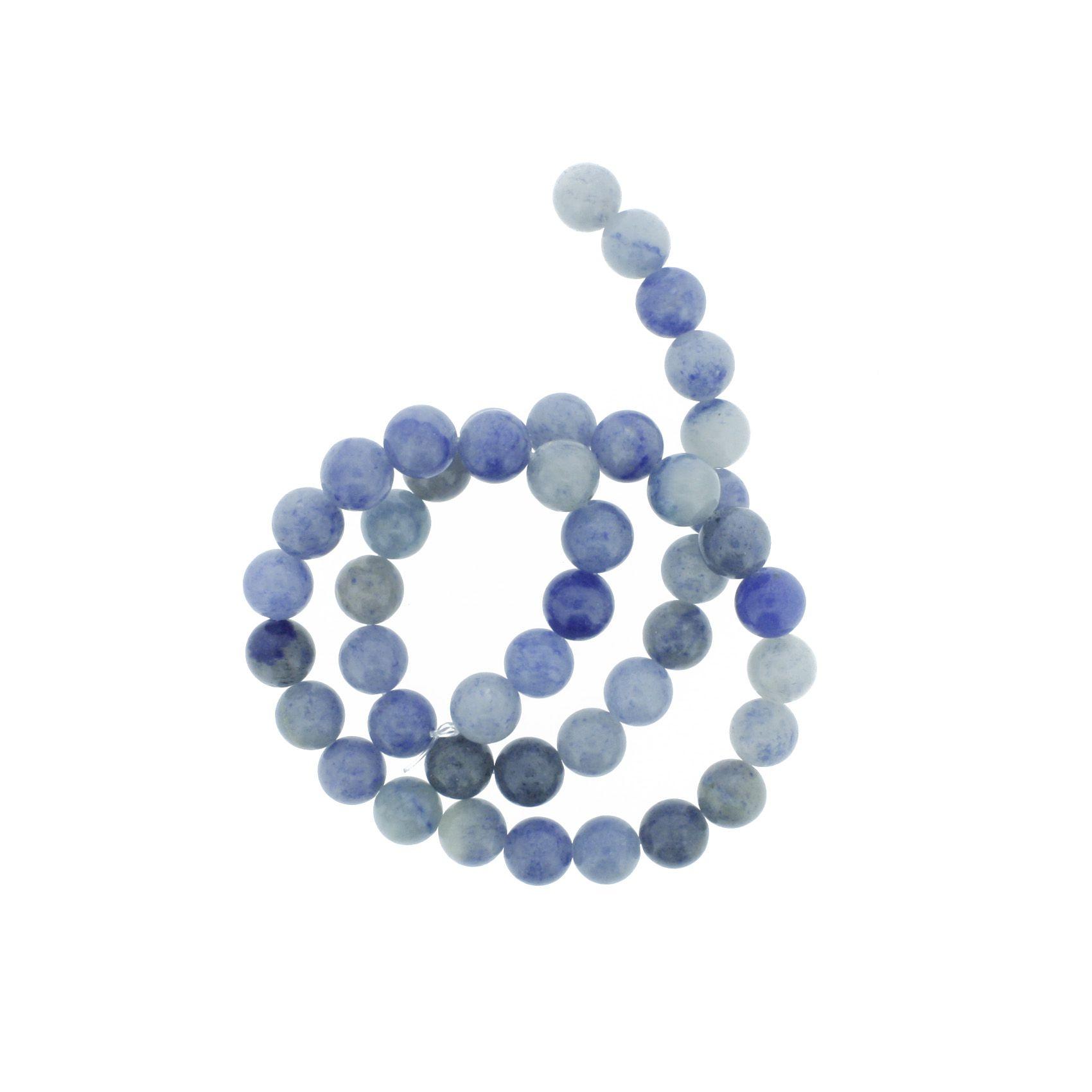 Fio de Pedra - Sodalita - 8mm  - Stéphanie Bijoux® - Peças para Bijuterias e Artesanato