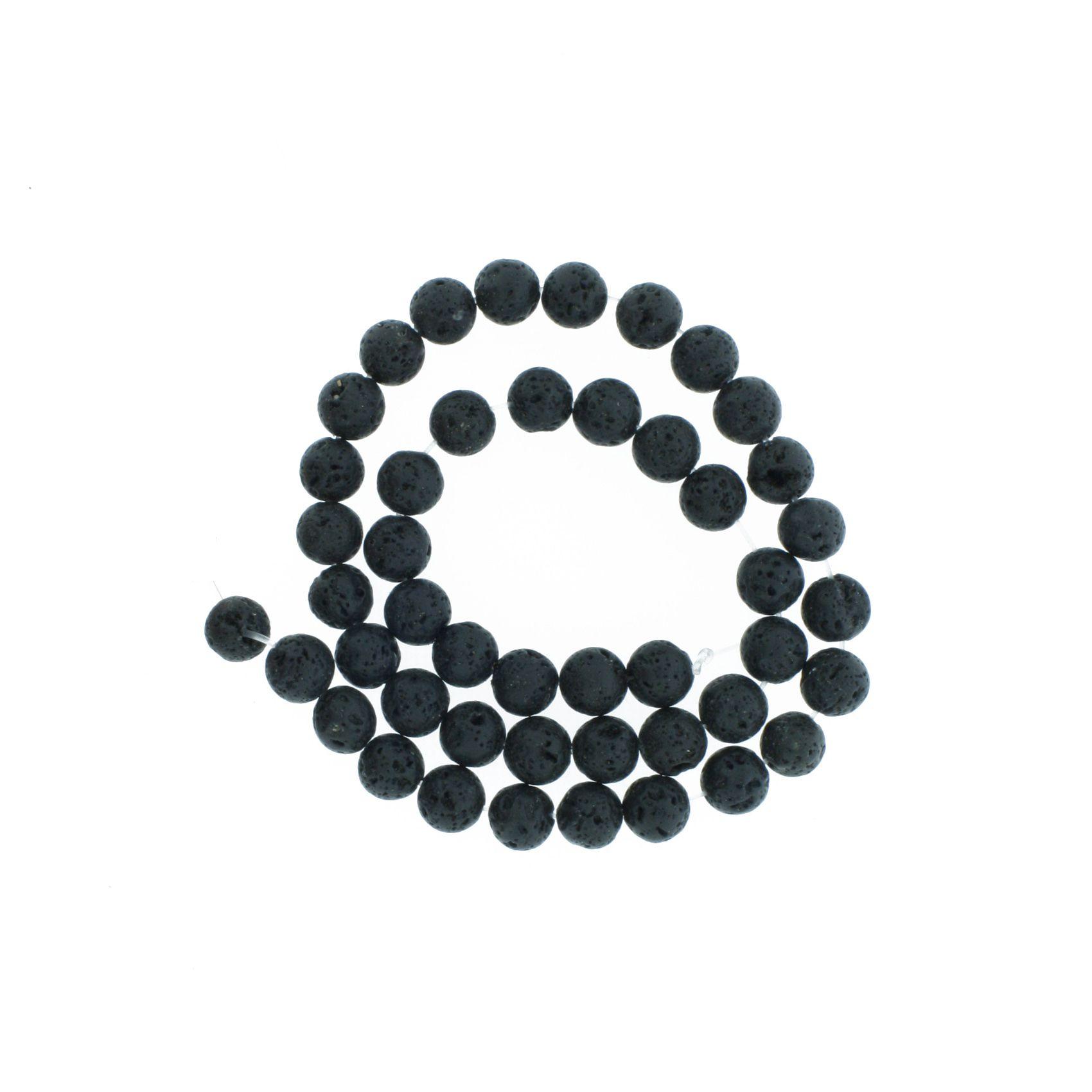Fio de Pedra - Vulcânica - 8mm  - Stéphanie Bijoux® - Peças para Bijuterias e Artesanato