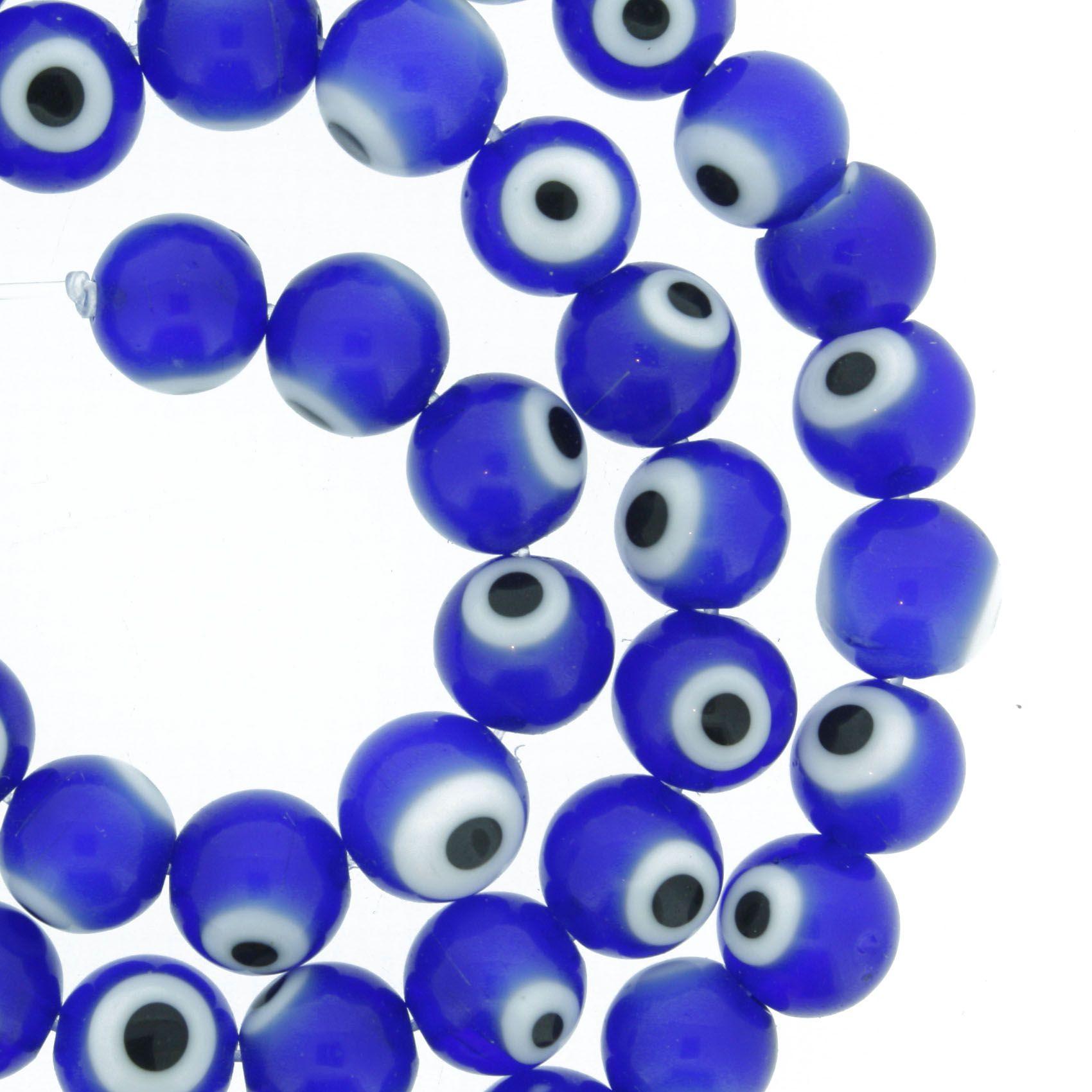Fio Olho Grego - 8mm  - Stéphanie Bijoux® - Peças para Bijuterias e Artesanato