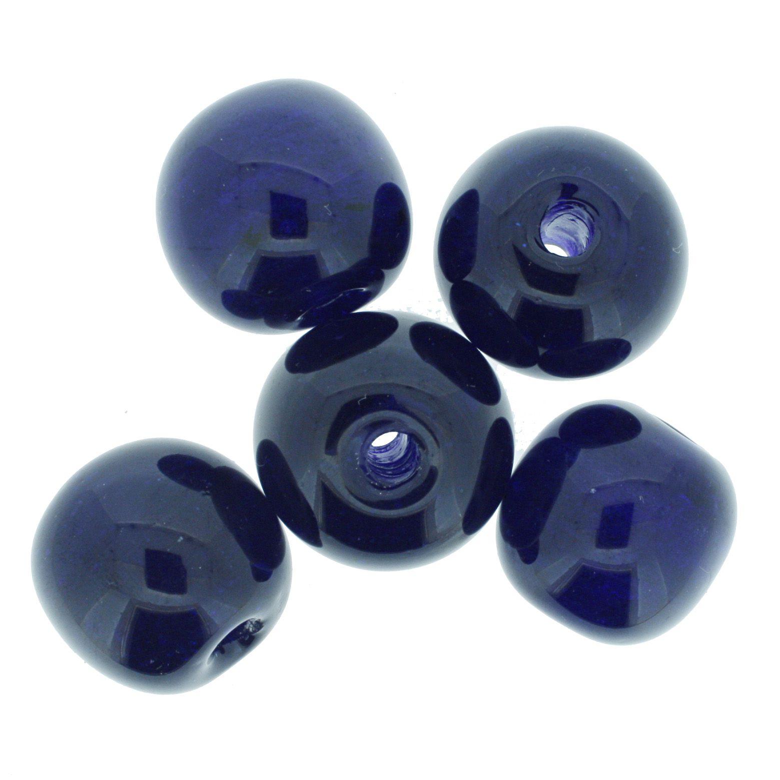 Firma Bola GG - Azul Marinho - 25mm  - Stéphanie Bijoux® - Peças para Bijuterias e Artesanato
