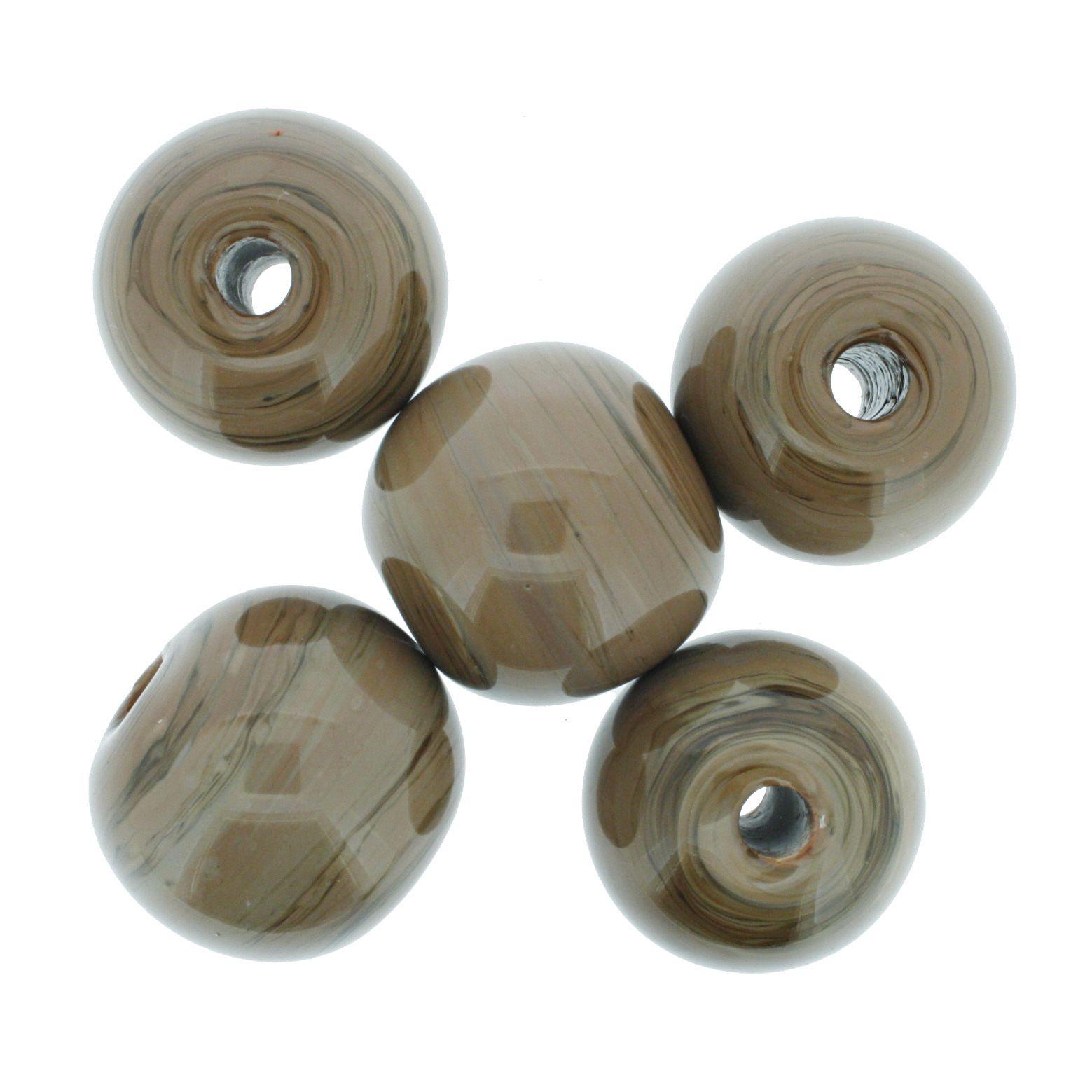 Firma Bola GG - Marrom - 25mm  - Stéphanie Bijoux® - Peças para Bijuterias e Artesanato