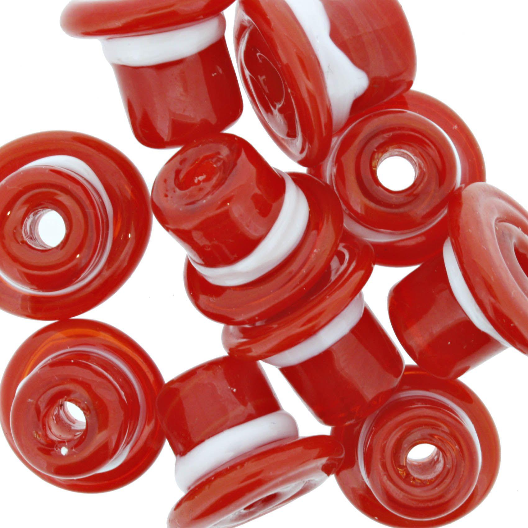 Firma Chapéu - Vermelho e Branco  - Stéphanie Bijoux® - Peças para Bijuterias e Artesanato