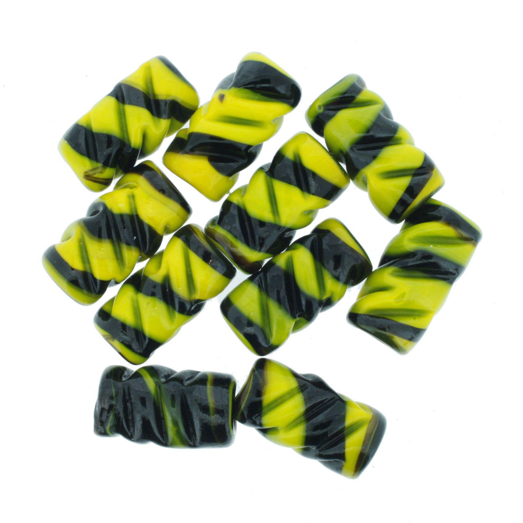 Firma Frisada - Amarela e Preta  - Stéphanie Bijoux® - Peças para Bijuterias e Artesanato