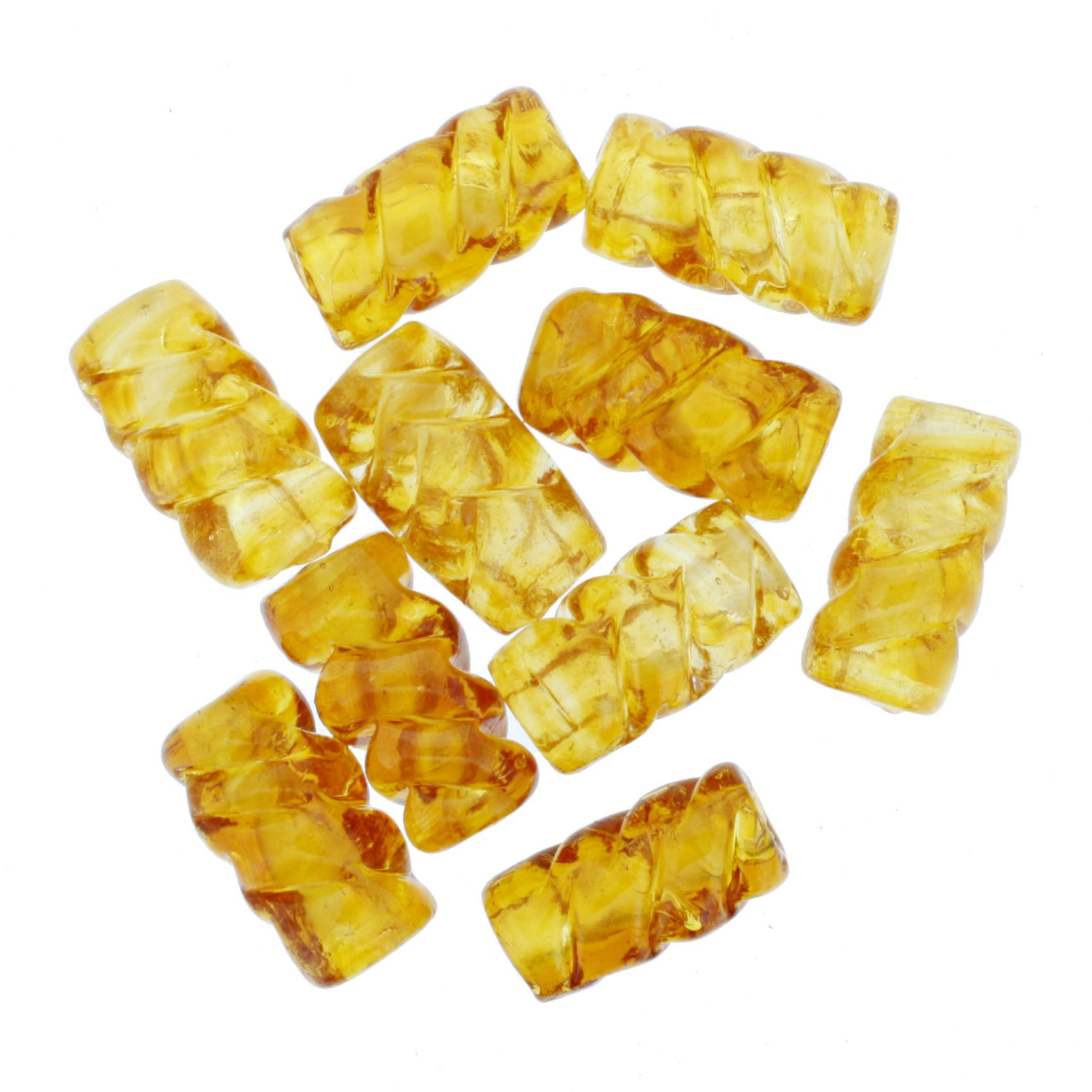 Firma Frisada - Âmbar Dourada Transparente  - Stéphanie Bijoux® - Peças para Bijuterias e Artesanato