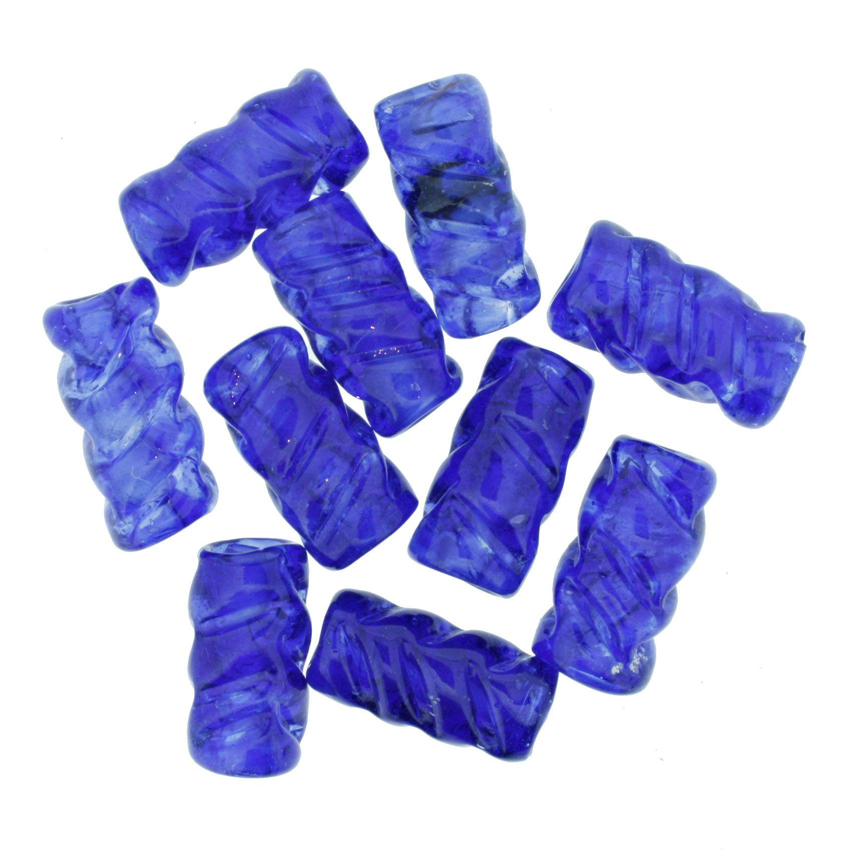 Firma Frisada - Azul Royal Transparente  - Stéphanie Bijoux® - Peças para Bijuterias e Artesanato