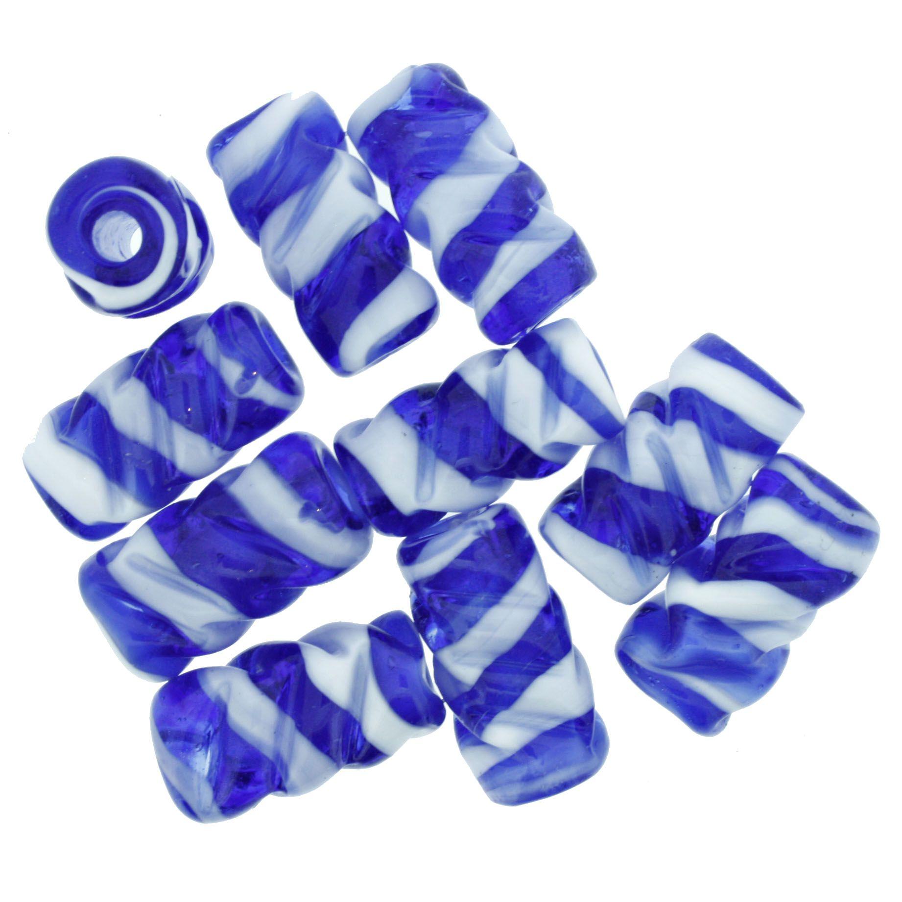 Firma Frisada - Branca e Azul  - Stéphanie Bijoux® - Peças para Bijuterias e Artesanato