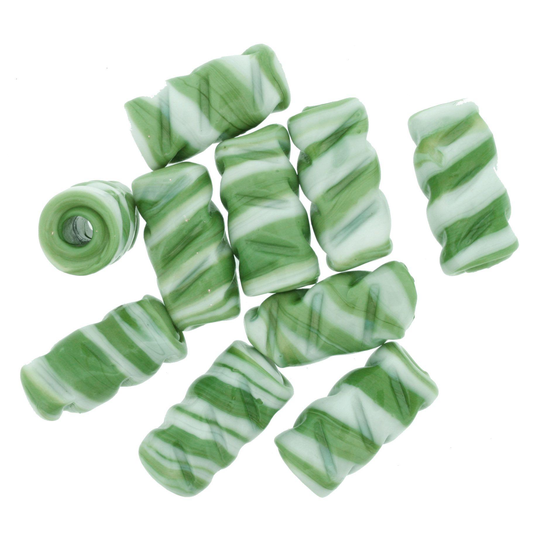 Firma Frisada - Branca e Verde  - Stéphanie Bijoux® - Peças para Bijuterias e Artesanato