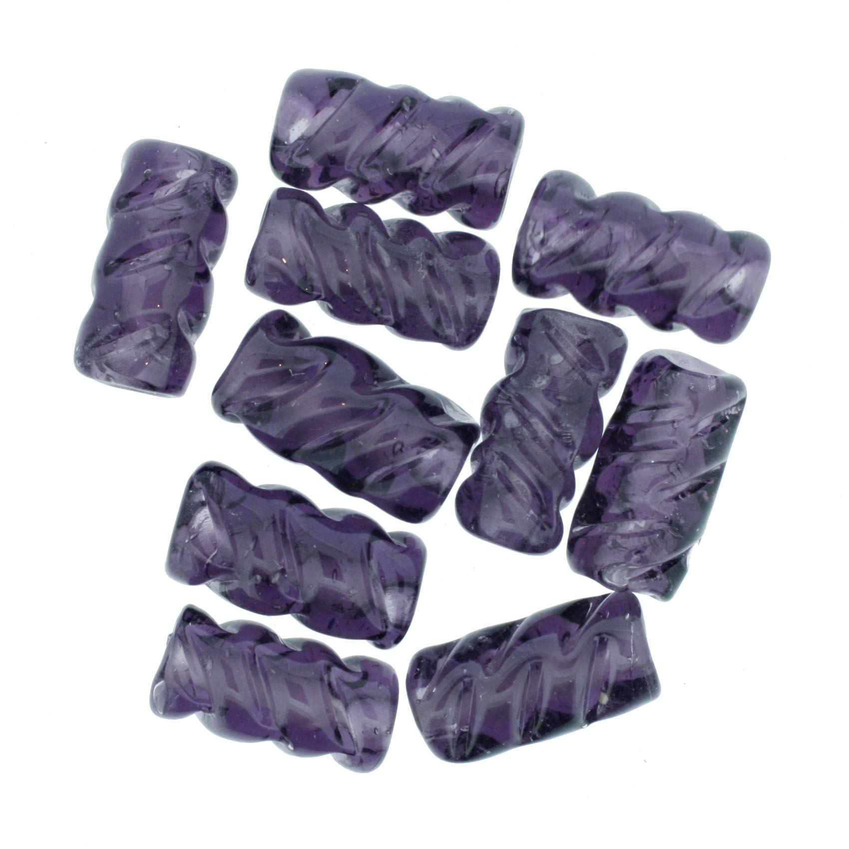 Firma Frisada - Roxa Transparente  - Stéphanie Bijoux® - Peças para Bijuterias e Artesanato
