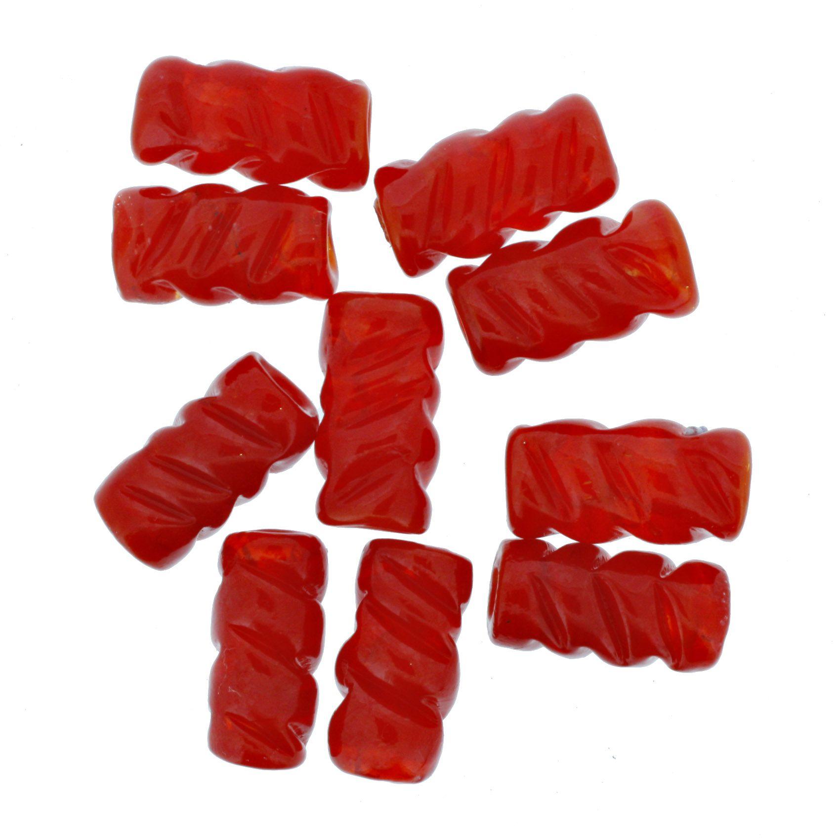 Firma Frisada - Vermelha  - Stéphanie Bijoux® - Peças para Bijuterias e Artesanato
