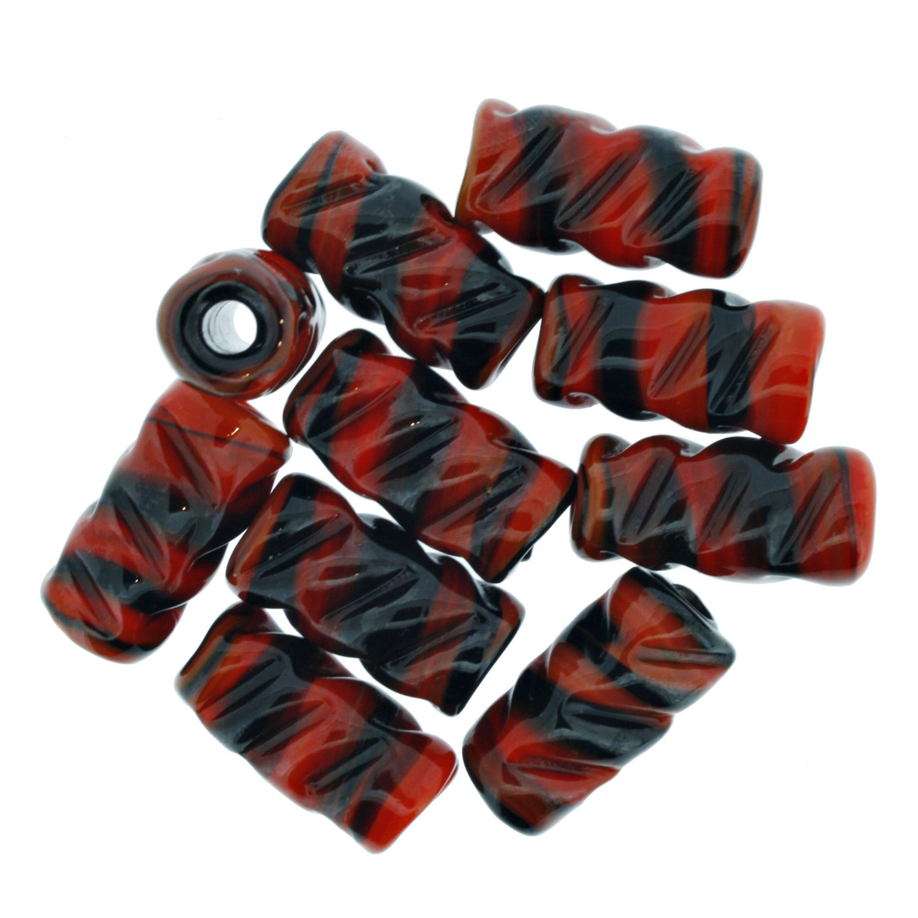 Firma Frisada - Vermelha e Preta  - Stéphanie Bijoux® - Peças para Bijuterias e Artesanato