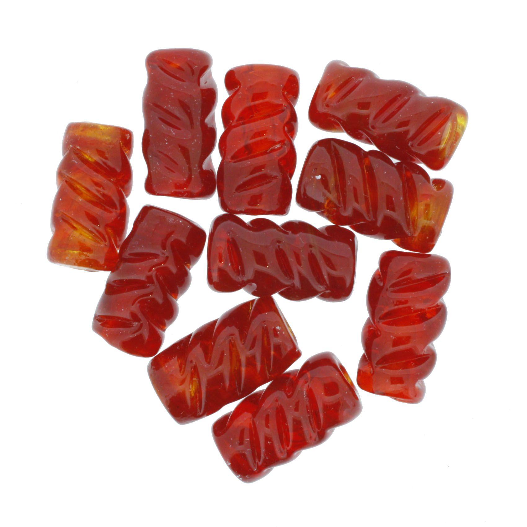 Firma Frisada - Vermelha Transparente  - Stéphanie Bijoux® - Peças para Bijuterias e Artesanato