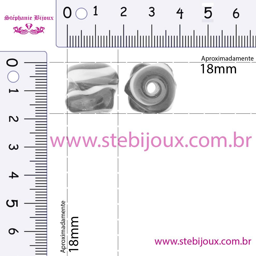 Firma Meteoro - Branca Vermelha e Preta  - Stéphanie Bijoux® - Peças para Bijuterias e Artesanato