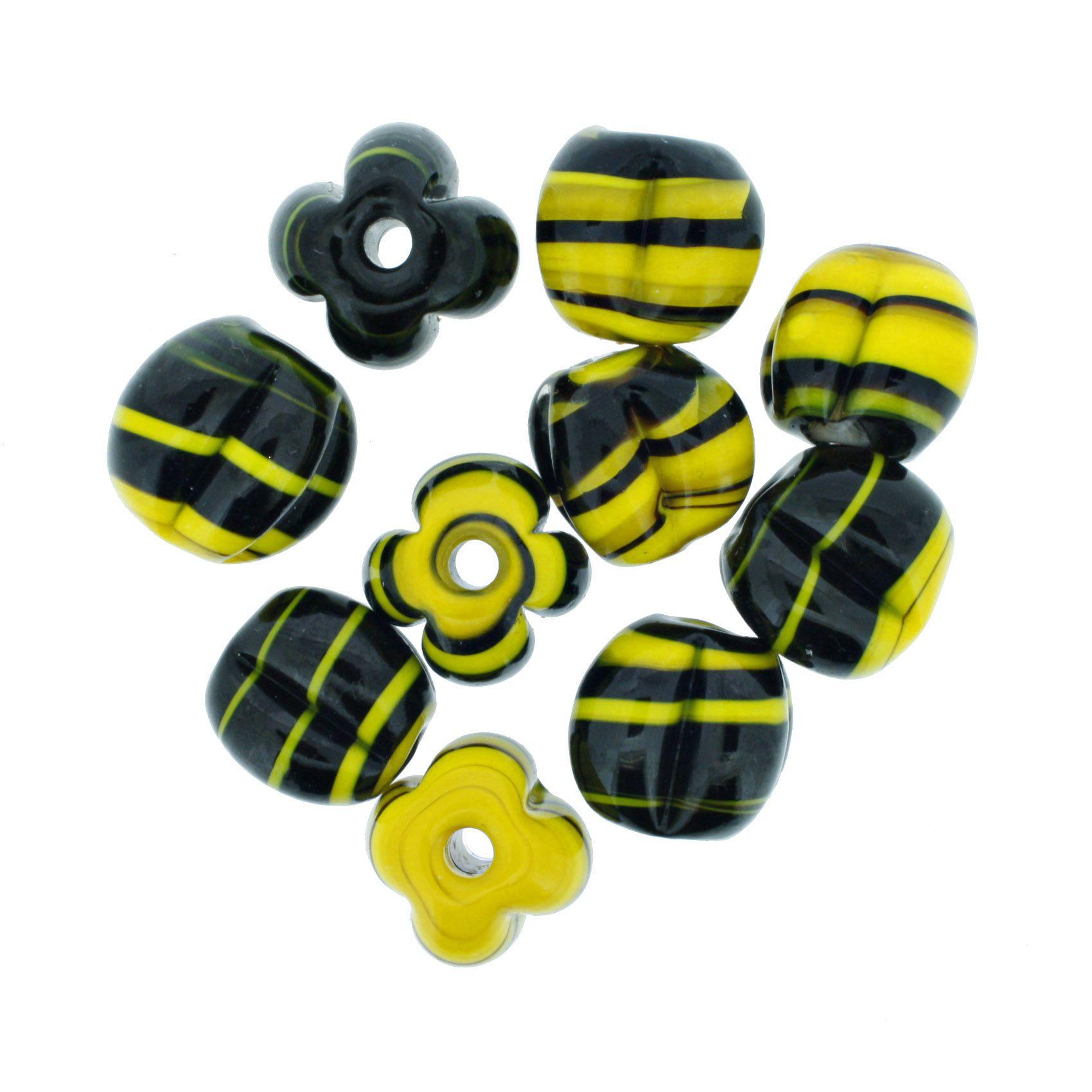Firma Pitanga - Amarela e Preta  - Stéphanie Bijoux® - Peças para Bijuterias e Artesanato