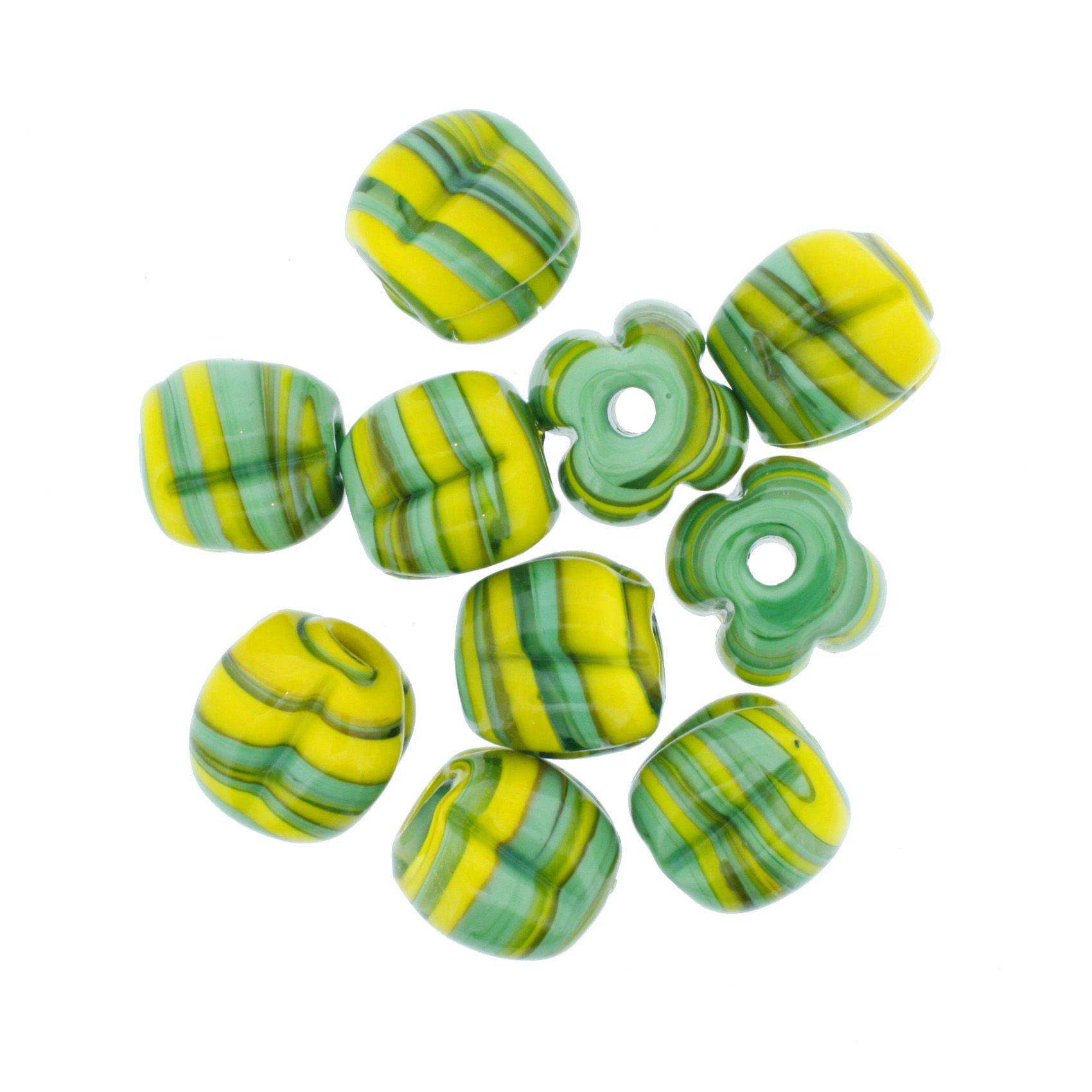 Firma Pitanga - Amarela e Verde  - Stéphanie Bijoux® - Peças para Bijuterias e Artesanato