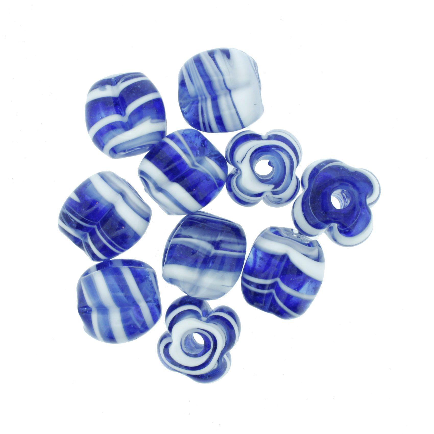 Firma Pitanga - Branca e Azul Royal  - Stéphanie Bijoux® - Peças para Bijuterias e Artesanato