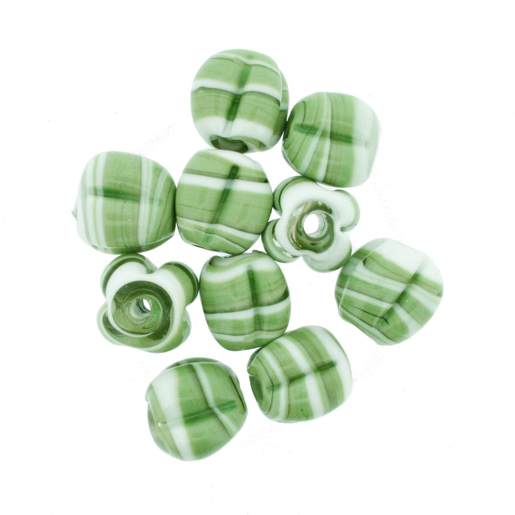 Firma Pitanga - Branca e Verde  - Stéphanie Bijoux® - Peças para Bijuterias e Artesanato
